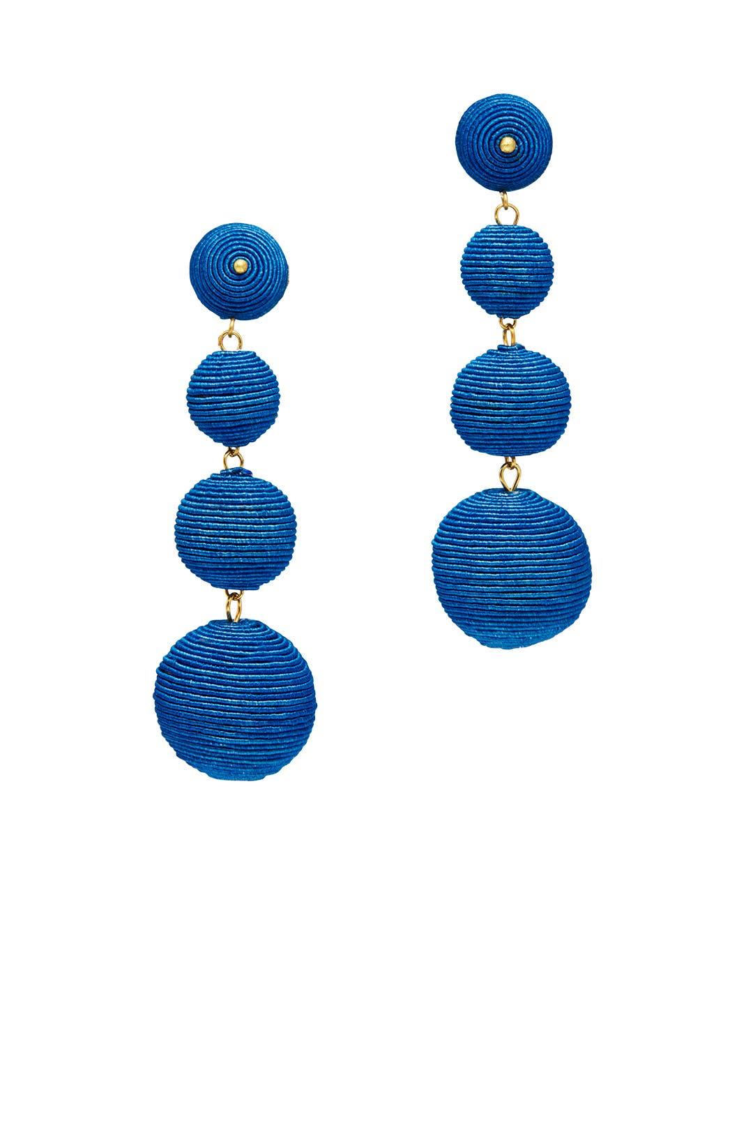 Blue Wrap Drop Earrings By Kenneth Jay Lane
