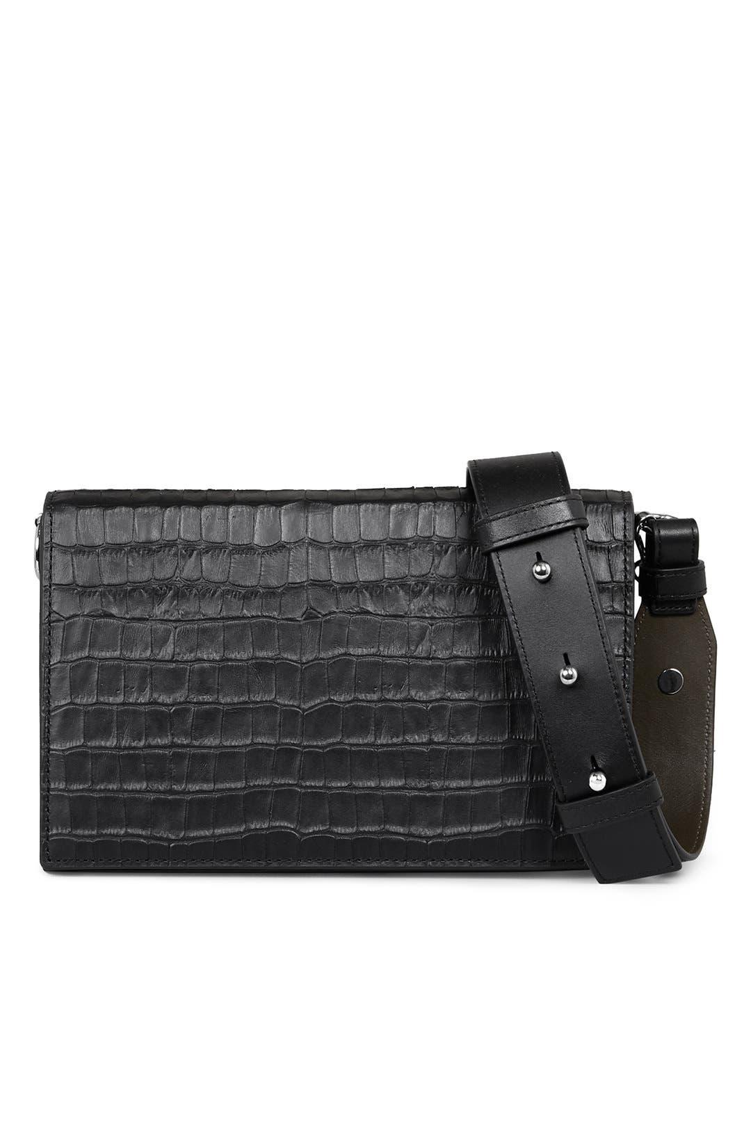 dc4dff55ac AllSaints Croc Zep Box Bag