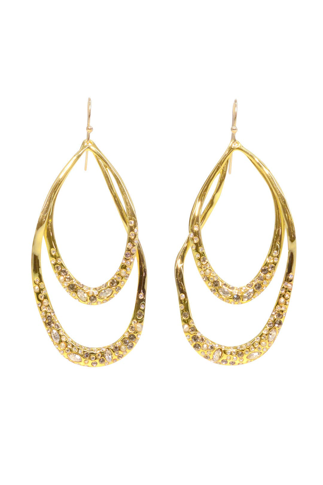 Double Loop Pave Encrusted Earring by Alexis Bittar