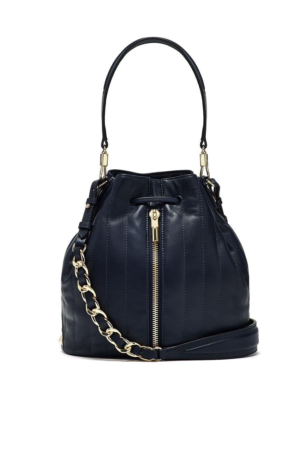 Navy Cynnie Bucket Bag by Elizabeth and James Accessories