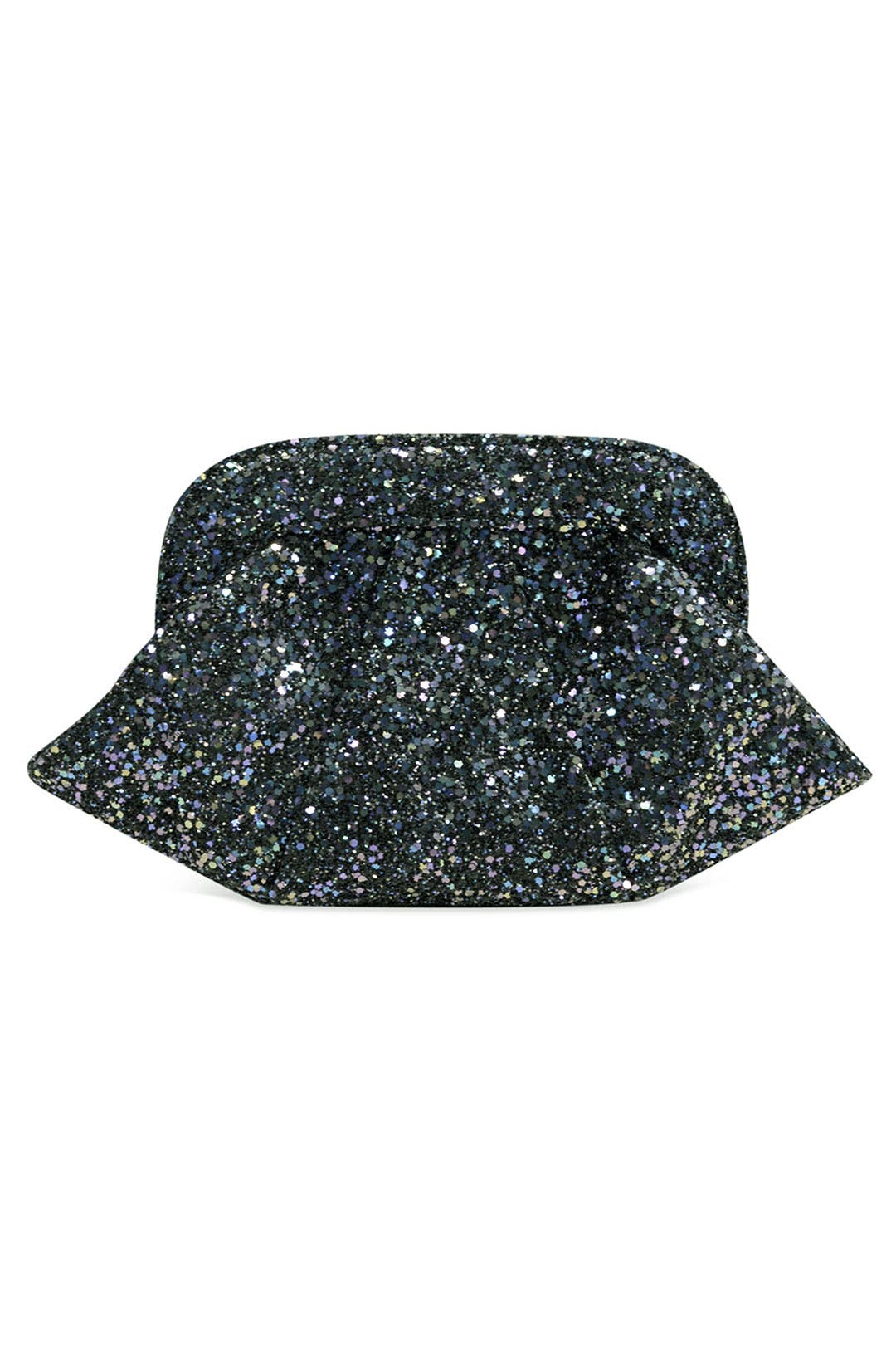 Lucy Glitter Clutch by Lauren Merkin
