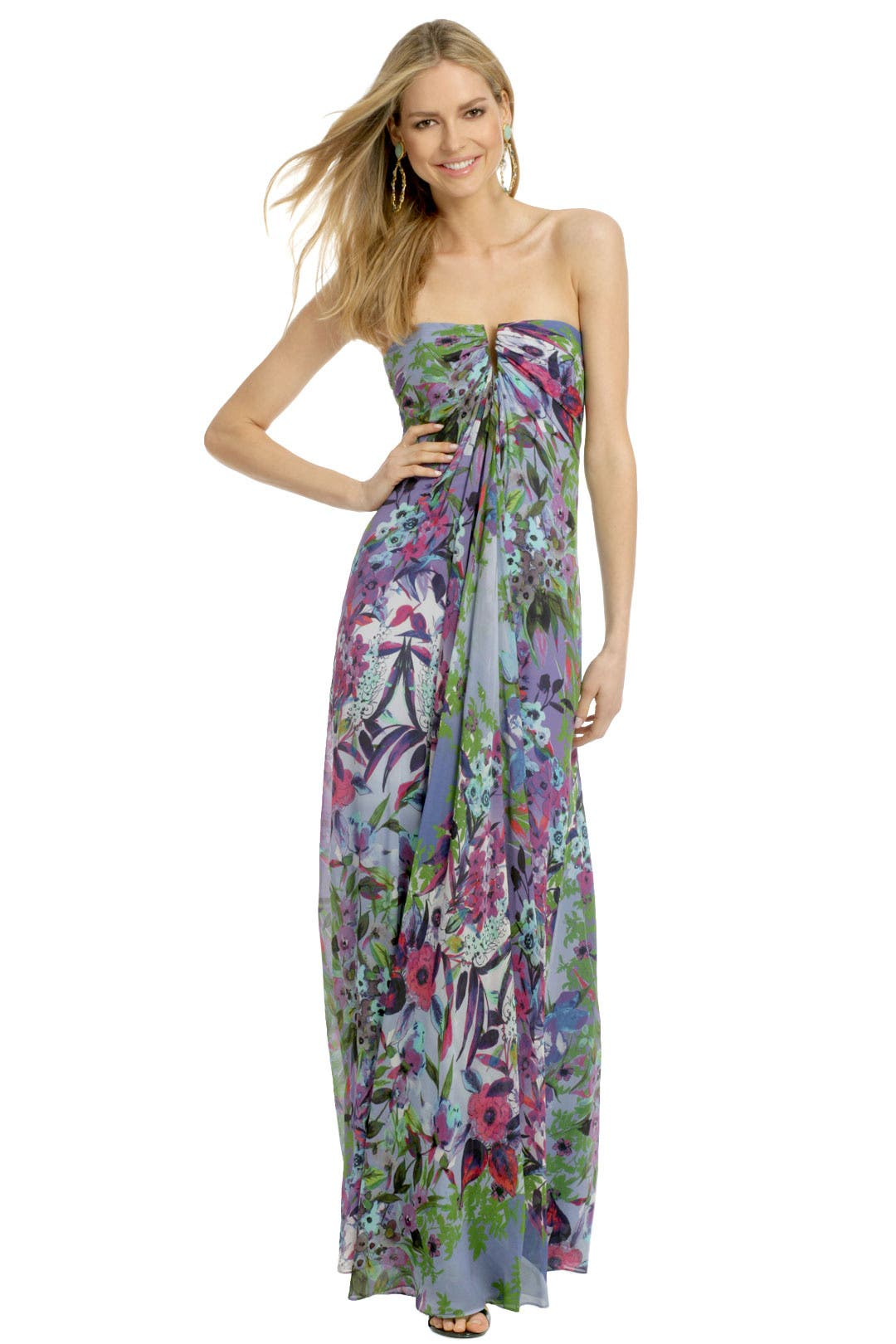 Angelina Wildflower Maxi by Nicole Miller for $100 | Rent the Runway