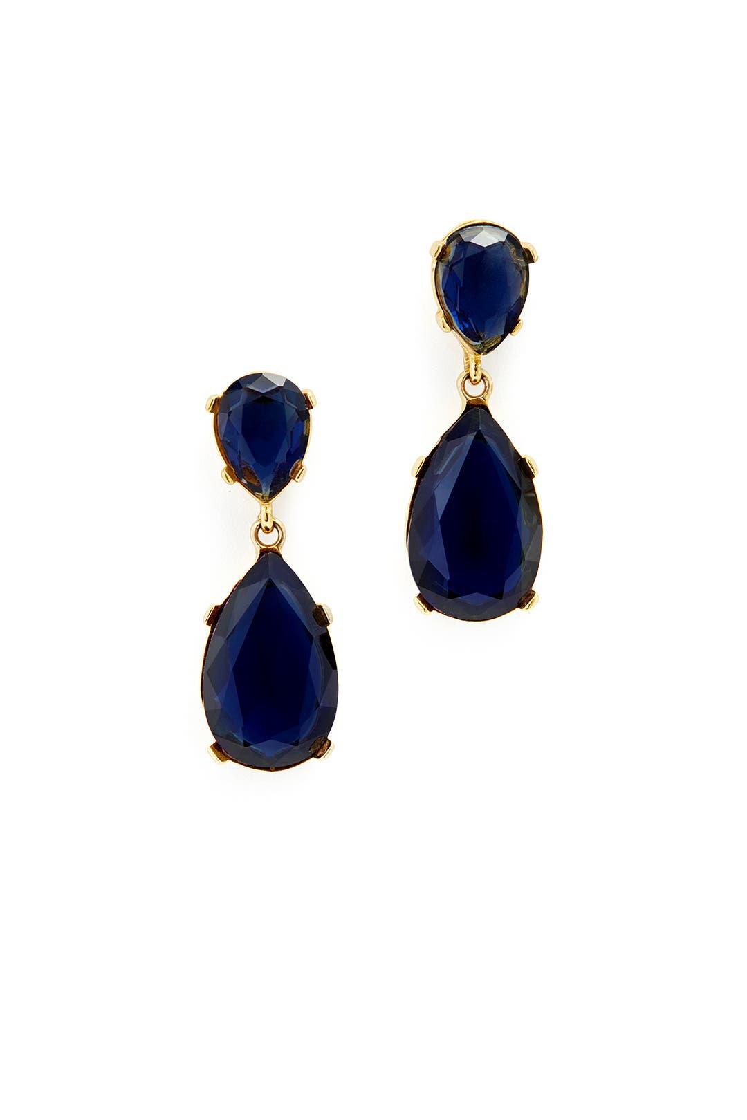 Deep Blue Drop Earrings By Kenneth Jay Lane For 15 Rent