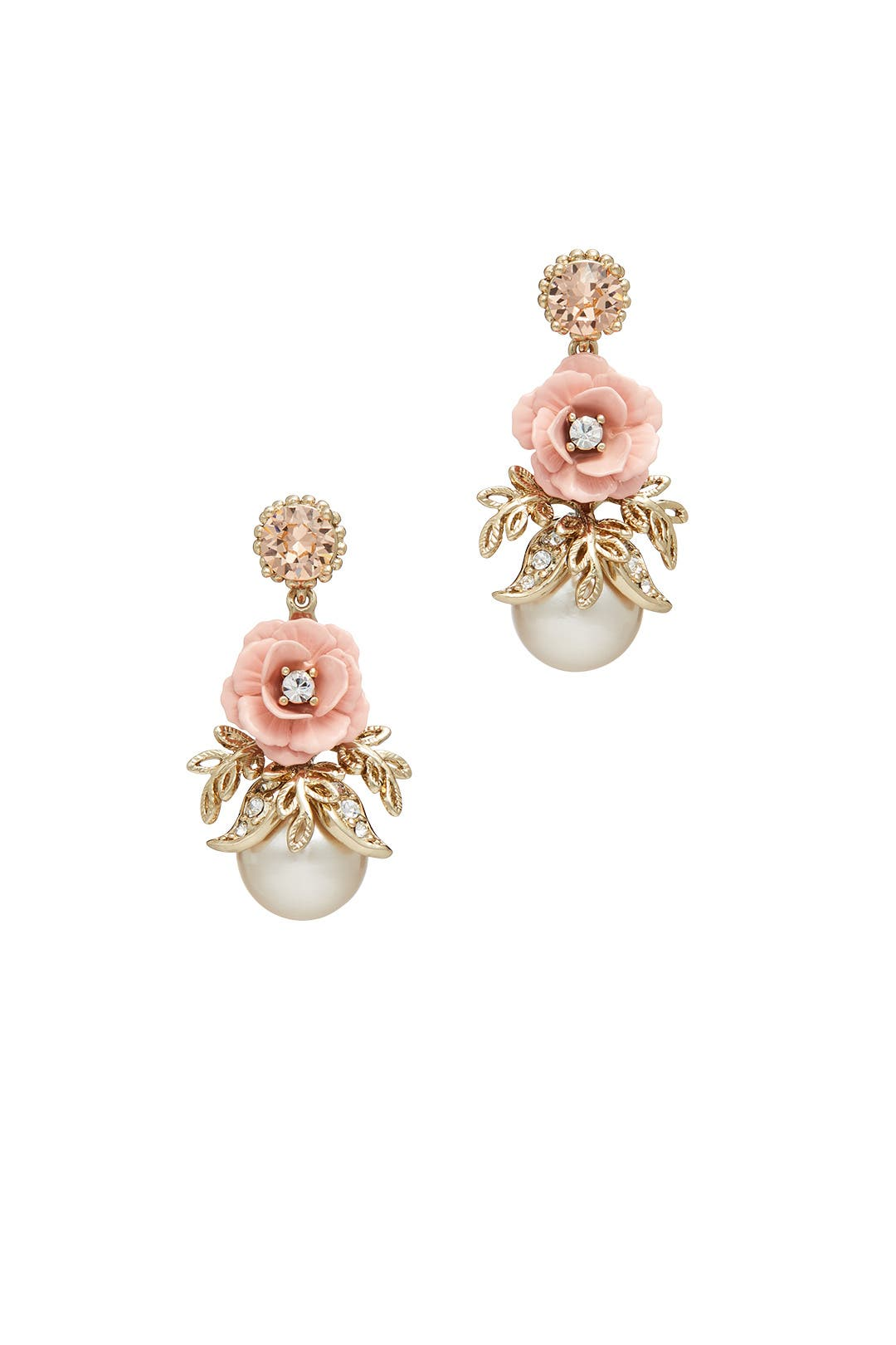 Blush Spring Meadow Earrings By Marchesa Jewelry For $10  Rent The Runway
