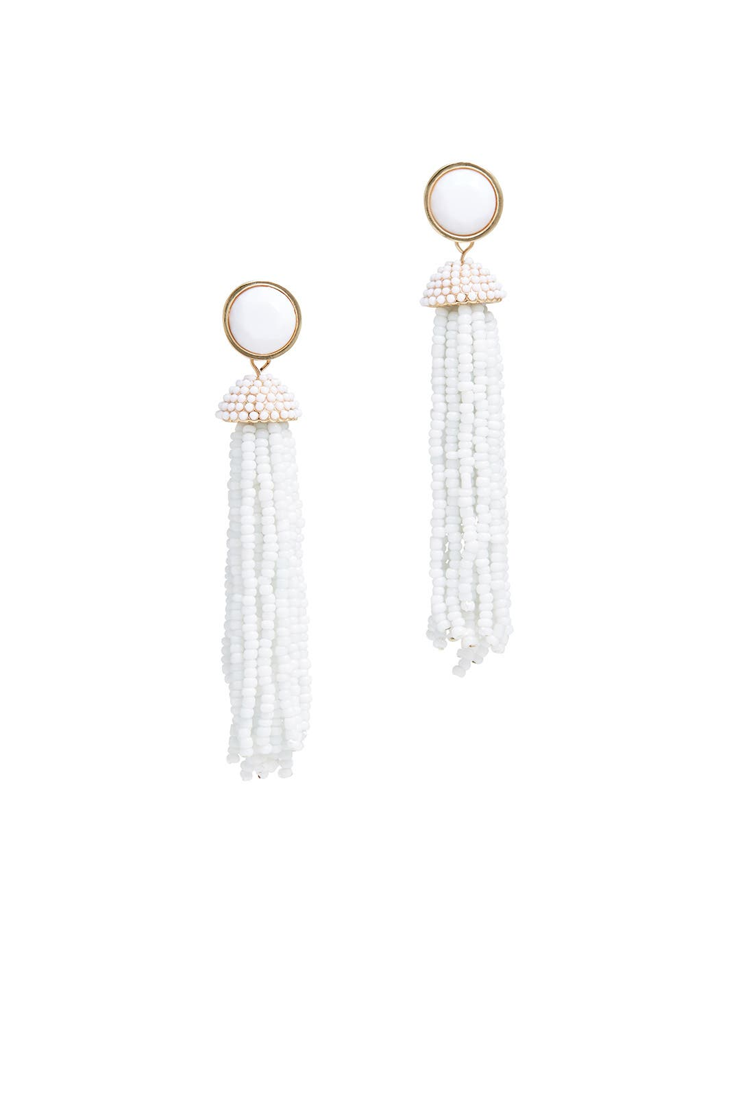 White Beaded Tassel Earrings By Slate & Willow Accessories For $8  Rent  The Runway