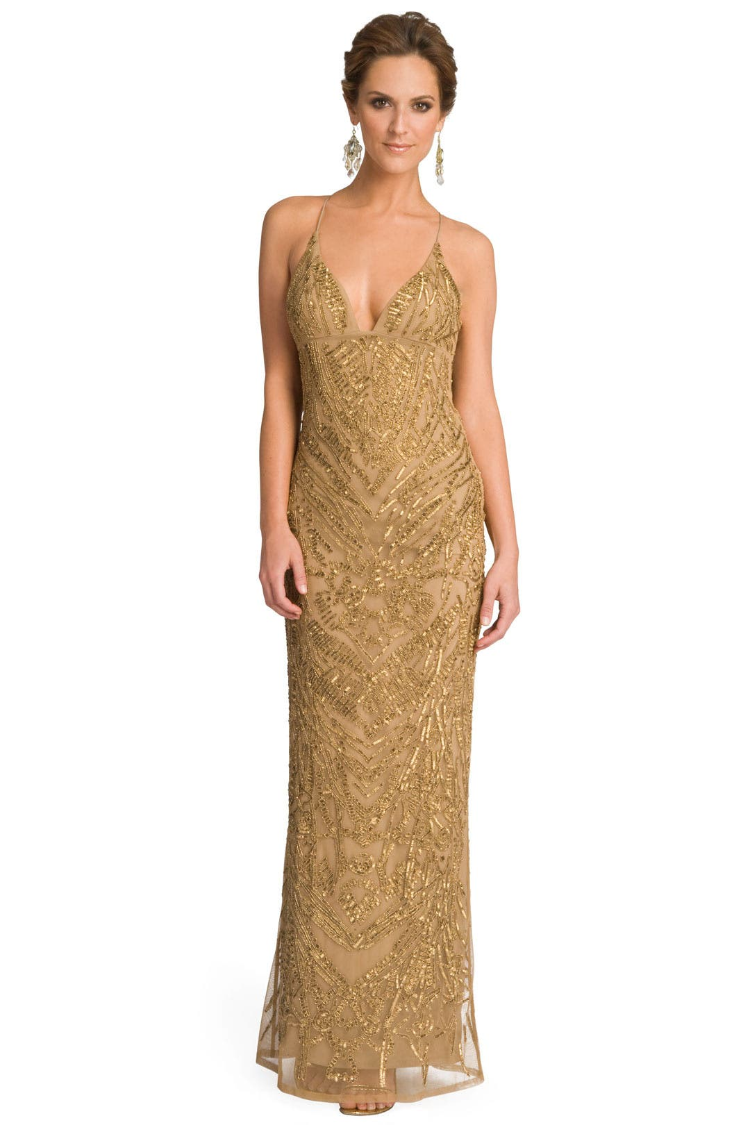 Drop Dead Gold Gorgeous Gown by Nicole Miller