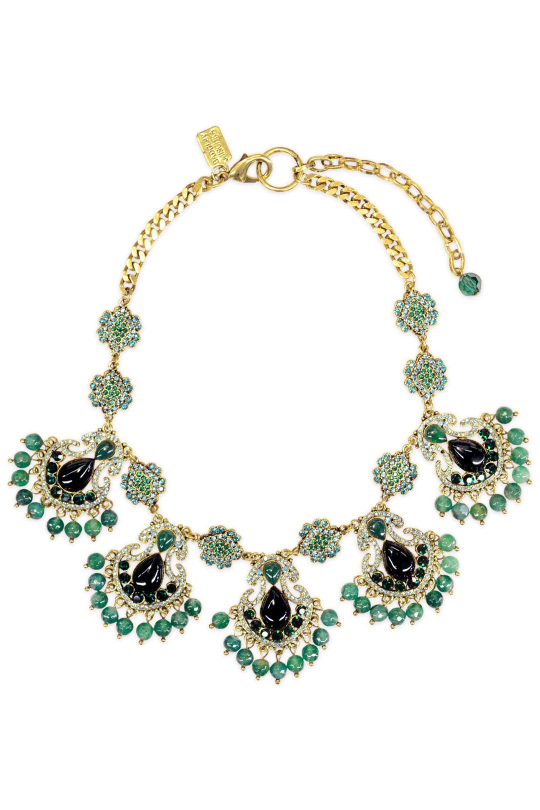 Entrancing Emerald Necklace by Badgley Mischka Jewelry