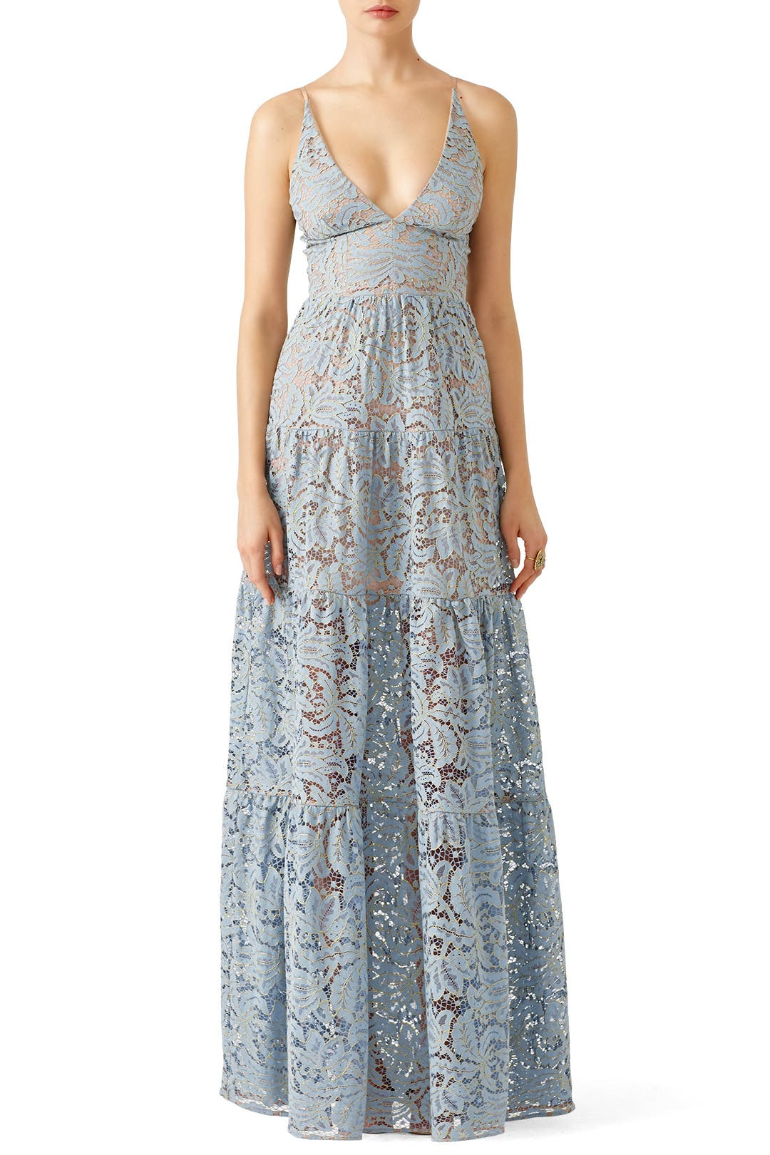 Blue Melina Lace Maxi By Dress The Population For 30