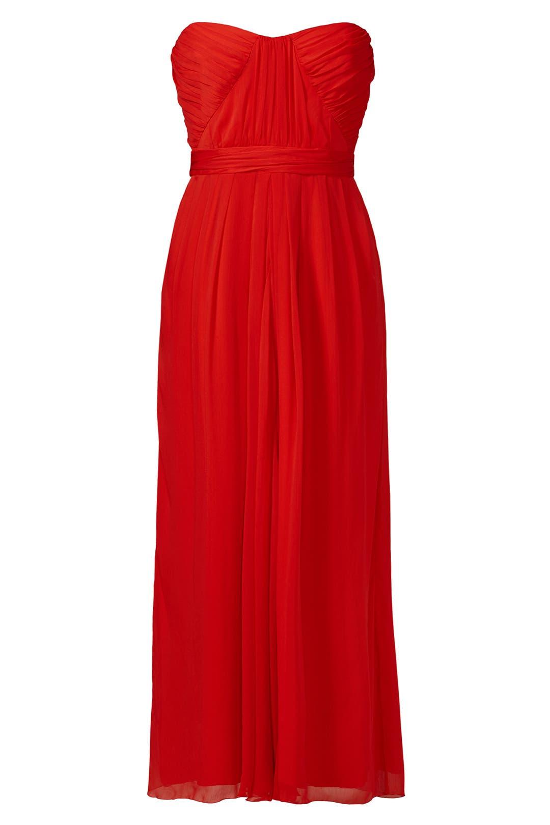 Lipstick Red Gown by Badgley Mischka