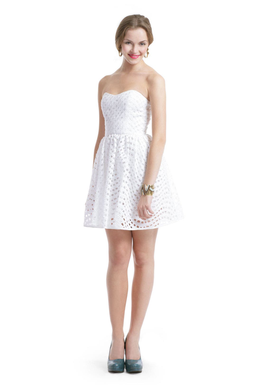 White Eyelet Dress by Thread Social