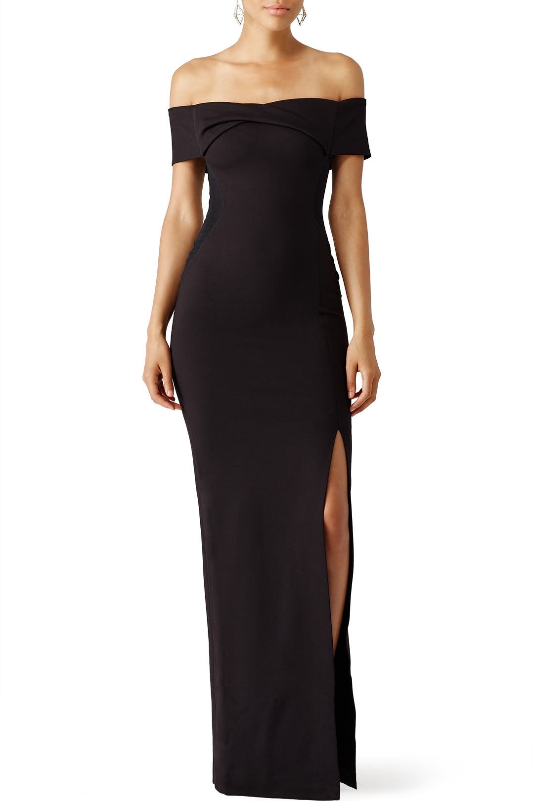 Black Knot Front Gown By Nicholas For 59 Rent The Runway