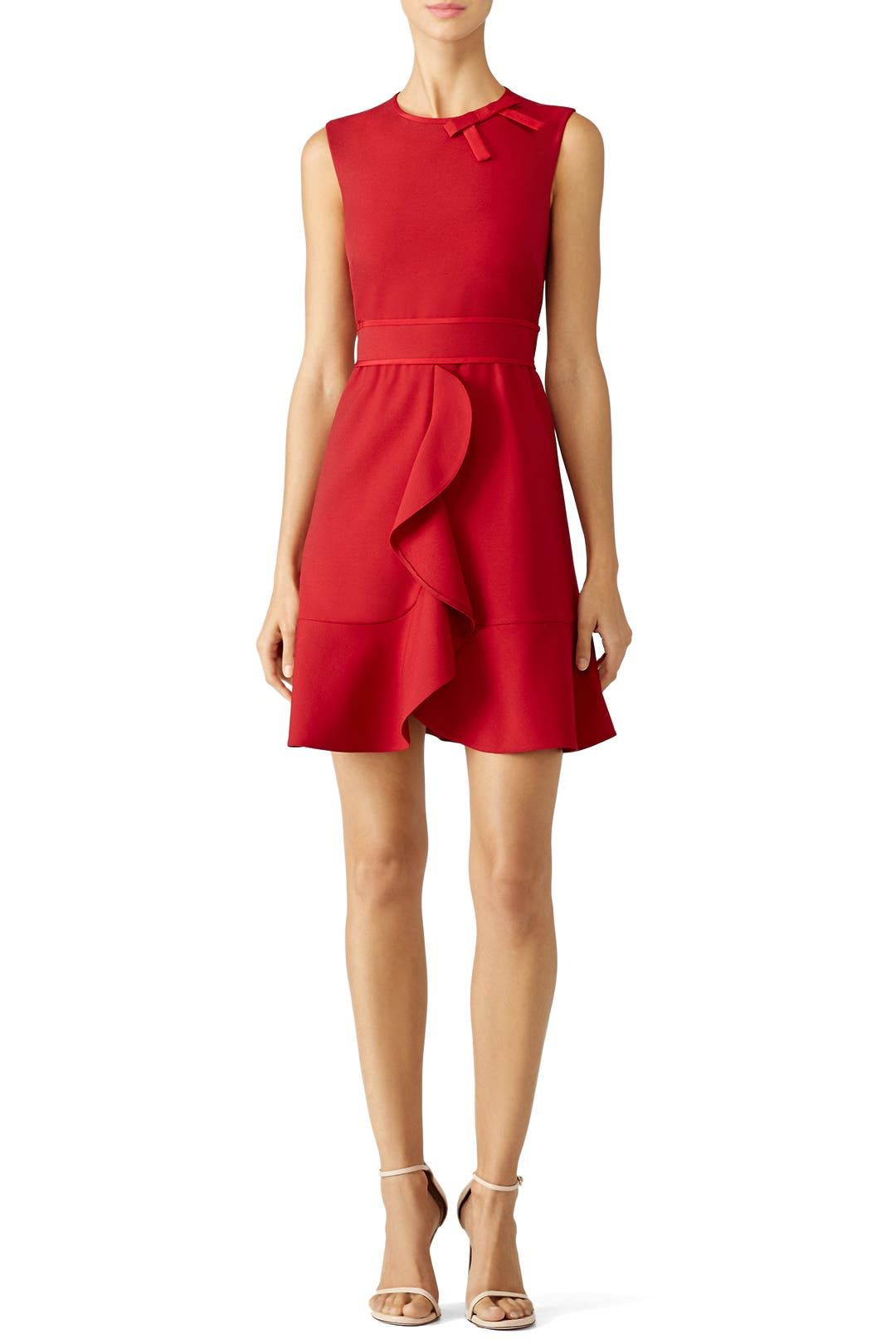 b37855ee94 Valentino Red Dress With Bow