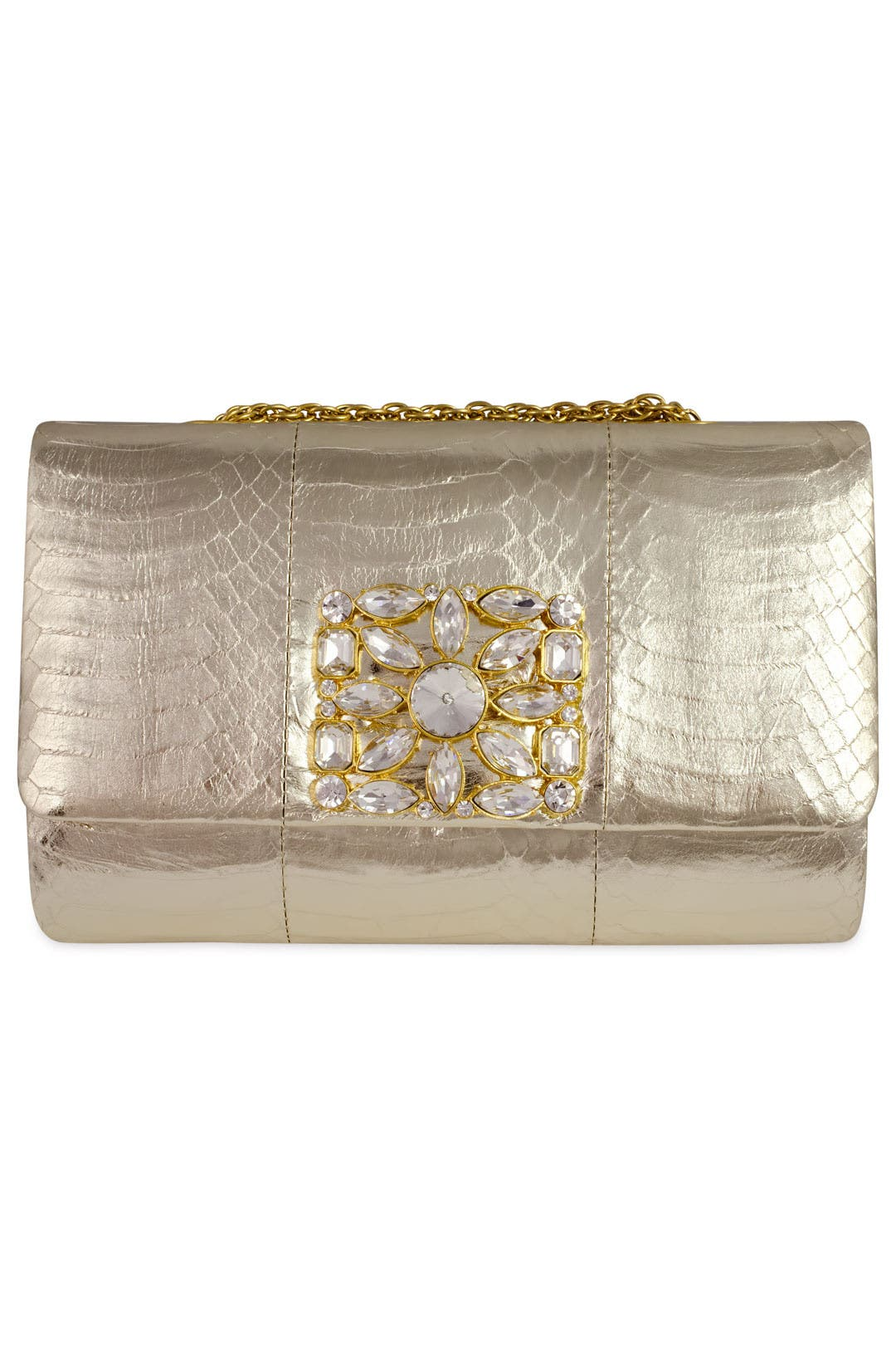 Corrine Gold Snake Clutch by Badgley Mischka Handbags