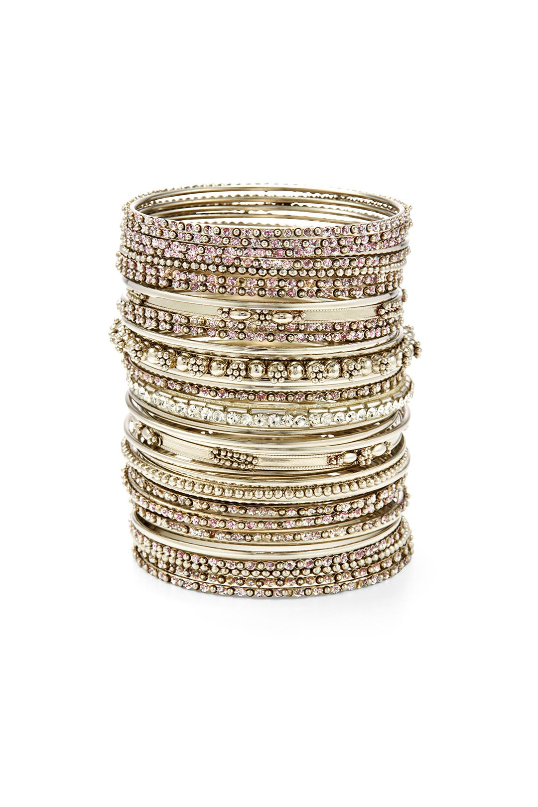 The More the Merrier Bangle Set by Cara Accessories
