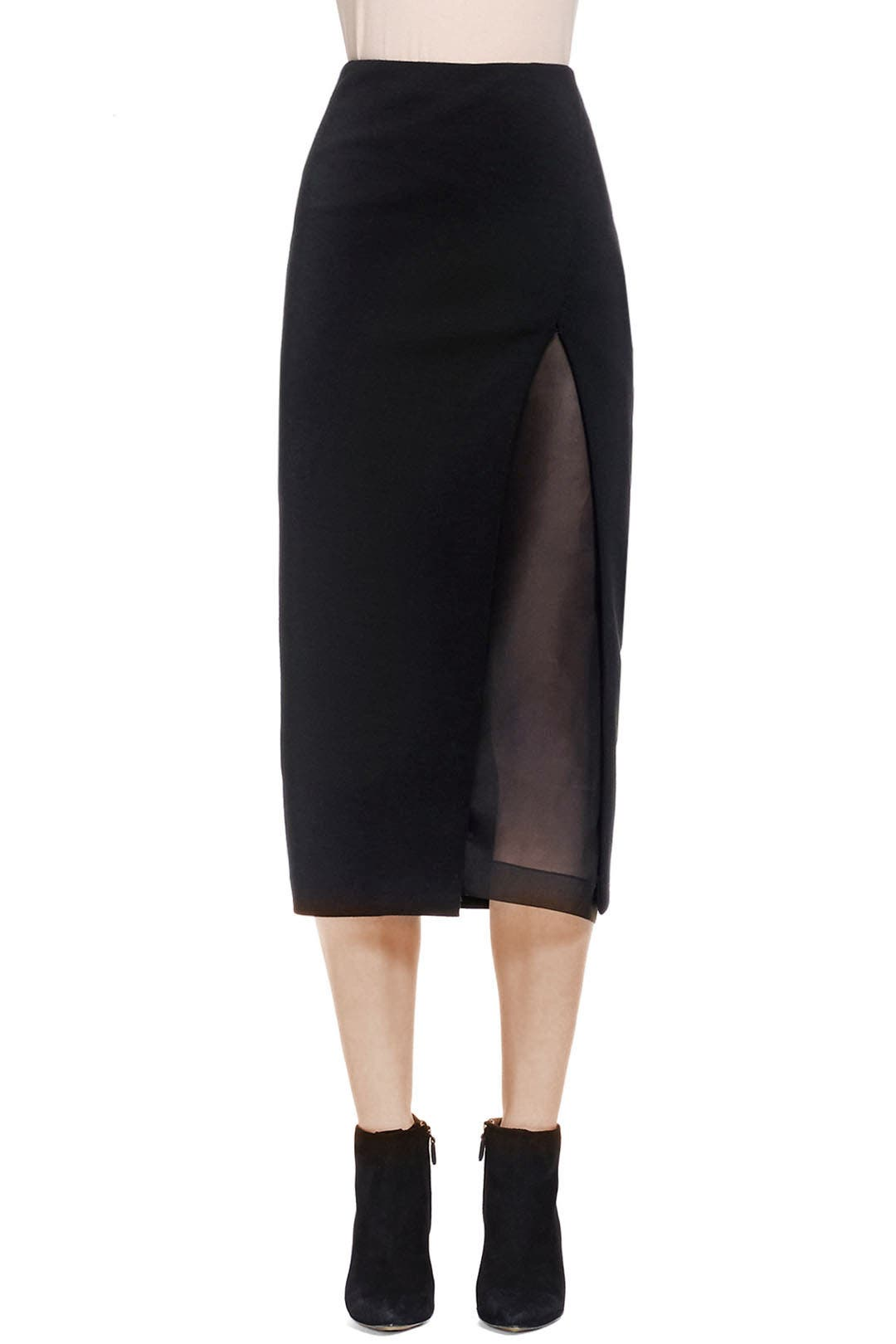 45ed6b7e468c84 Black Slit Shadow Pencil Skirt by Donna Karan New York for $180 | Rent the  Runway