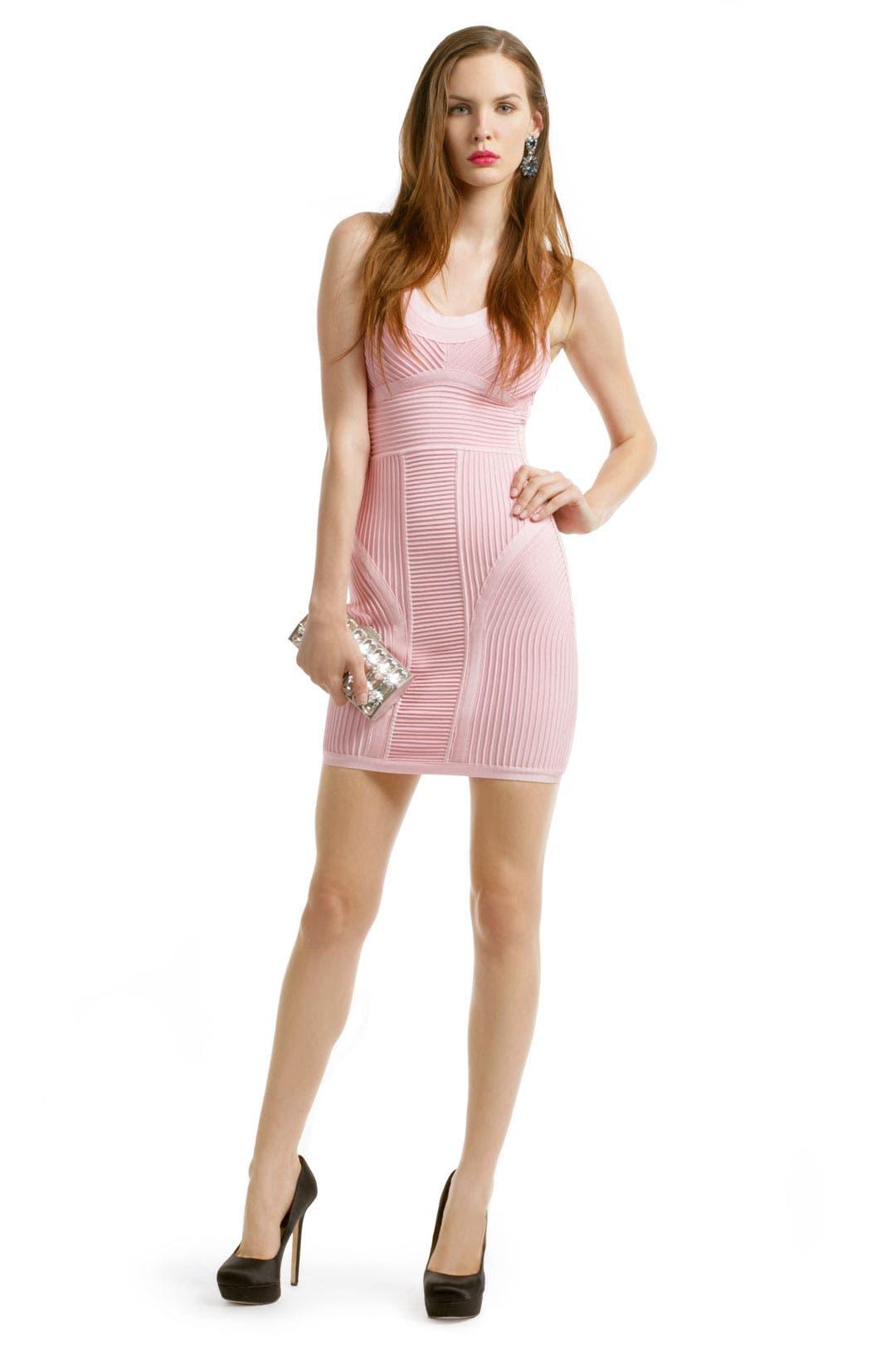 Pink Party Punch Dress by Hervé Léger