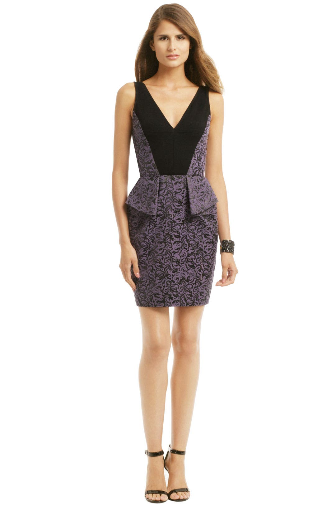 Purple Rain Peplum Dress by Yoana Baraschi