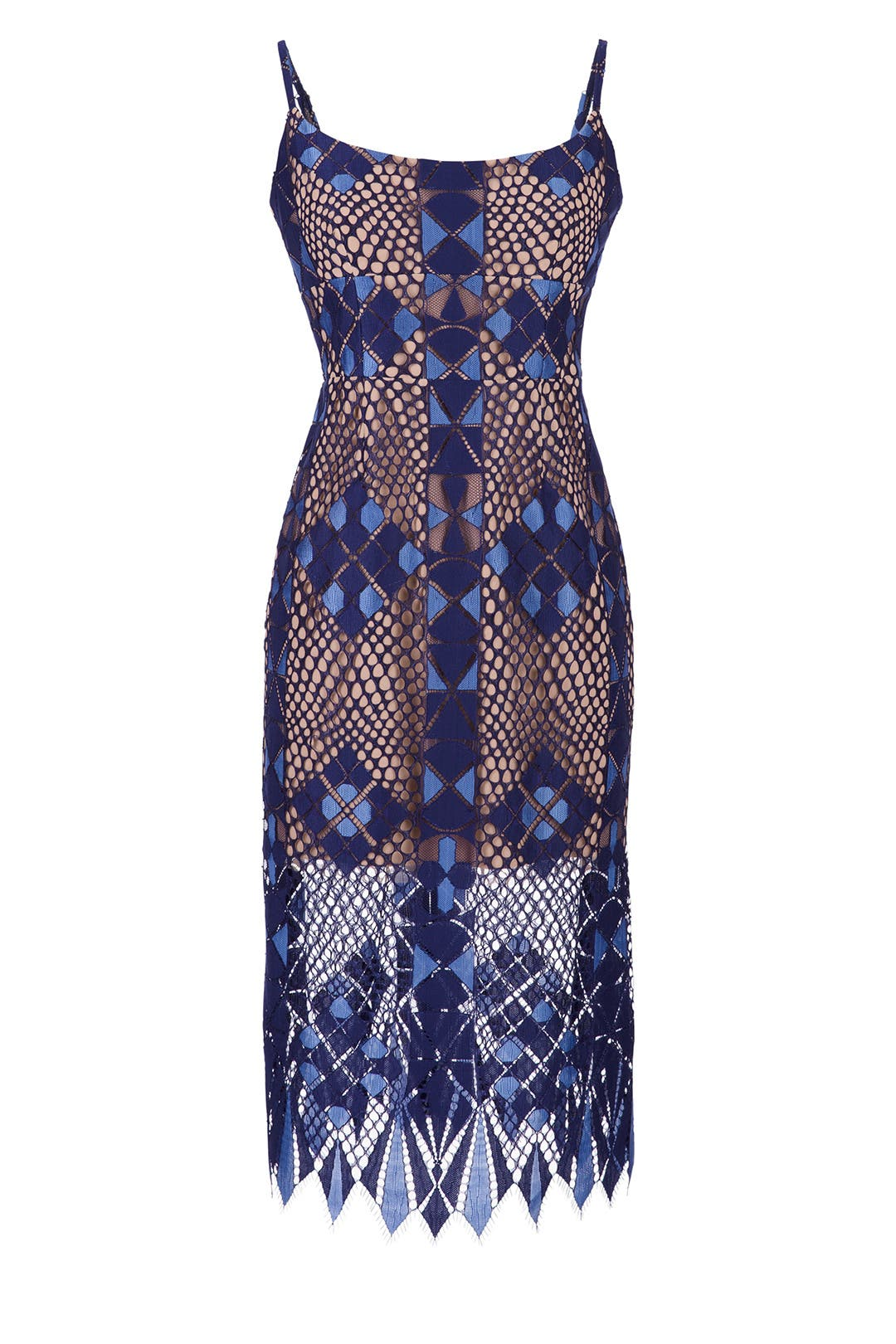 Alese Geometric Lace Dress by BCBGMAXAZRIA for $75 - $85 | Rent the ...