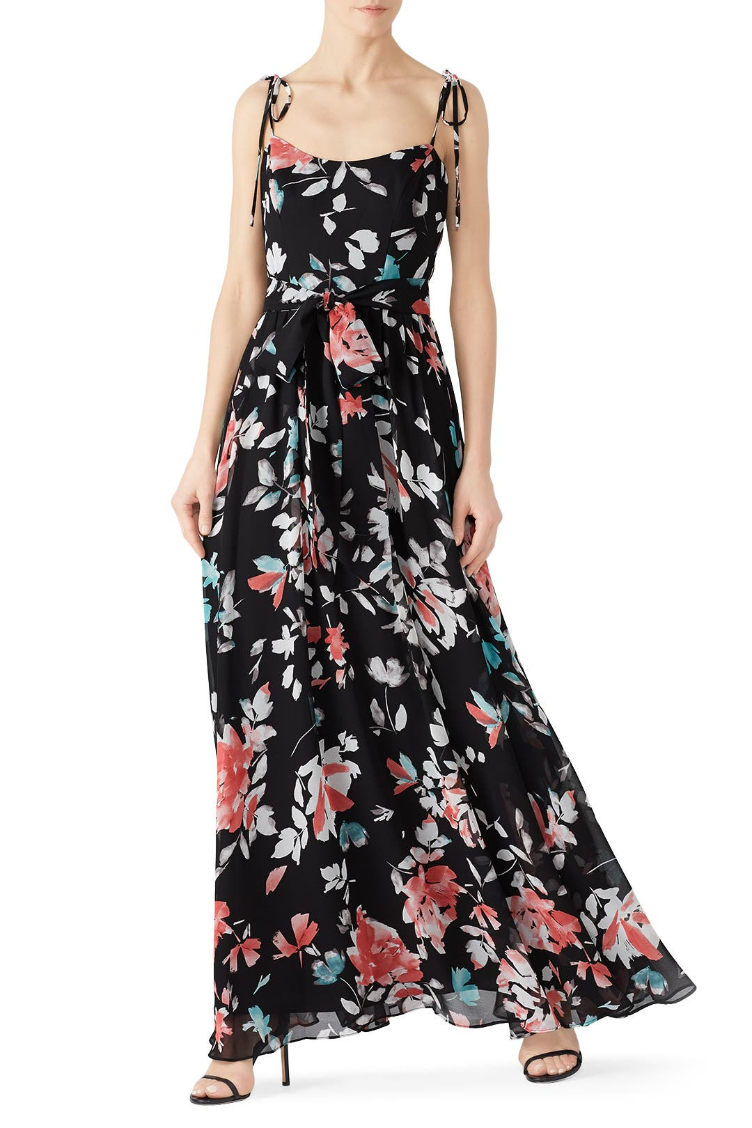 be627683e55777 Hollie Black Floral Maxi by Dress The Population for $30 - $55 | Rent the  Runway