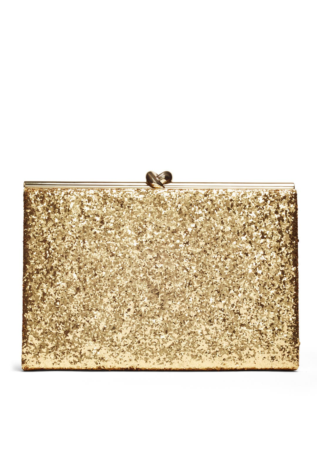 Gold Glitter Emanuelle Clutch by kate spade new york accessories ...
