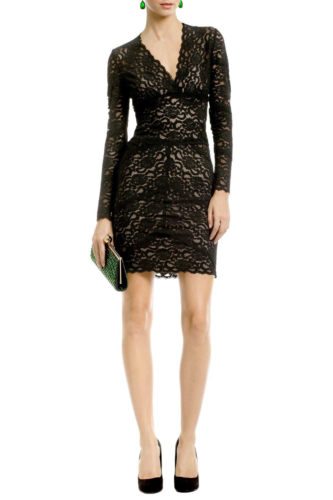 Kate Lace V Dress by Nicole Miller
