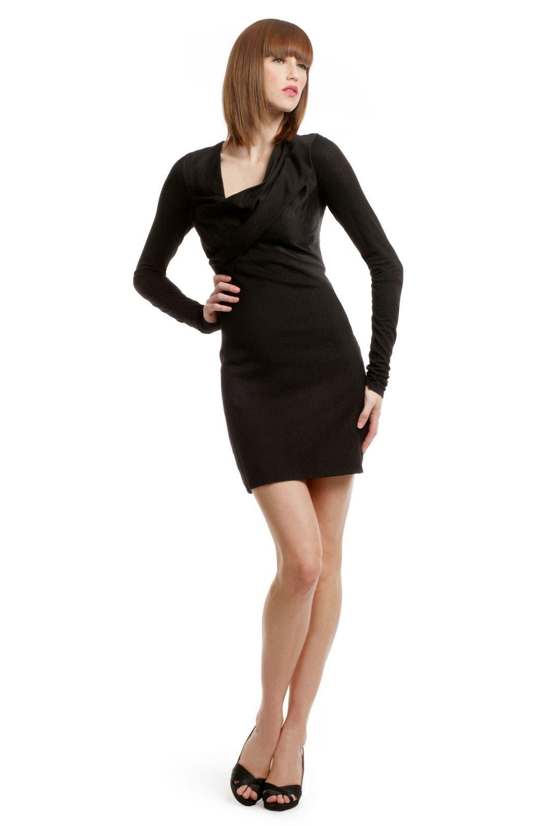 Black Combo Dress by Helmut Lang