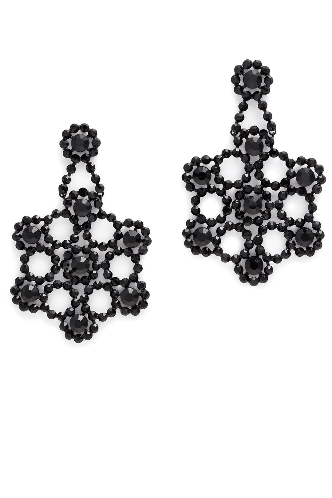 Black Crystal Lace Earrings By Kate Spade New York Accessories For $47   Rent The Runway