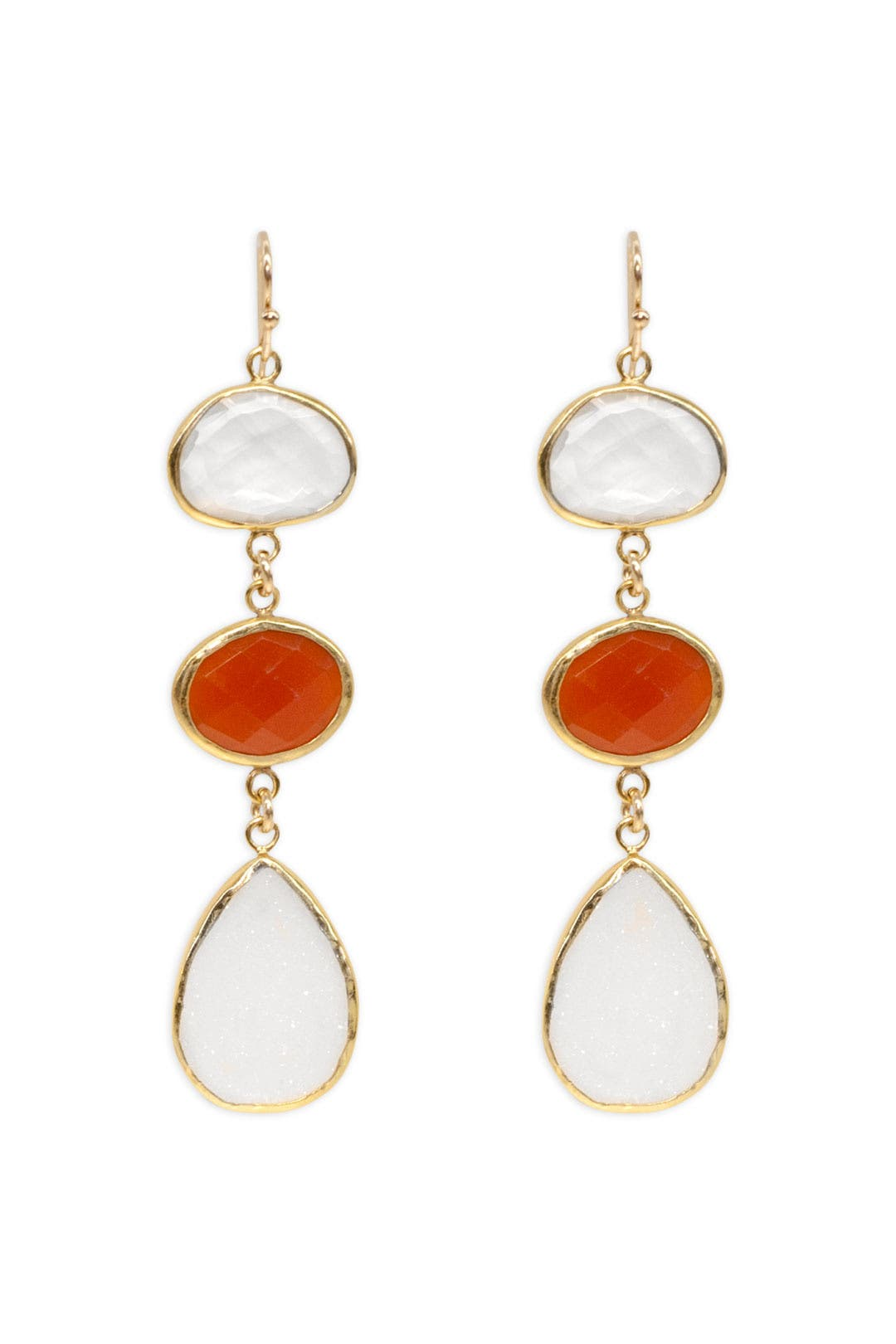 Creamsicle Druzy Drop Earrings by Margaret Elizabeth