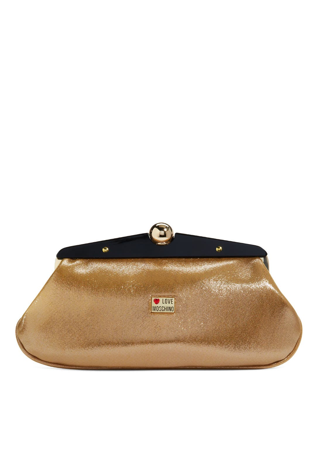 Gold Frame of Mind Clutch by Love Moschino Accessories
