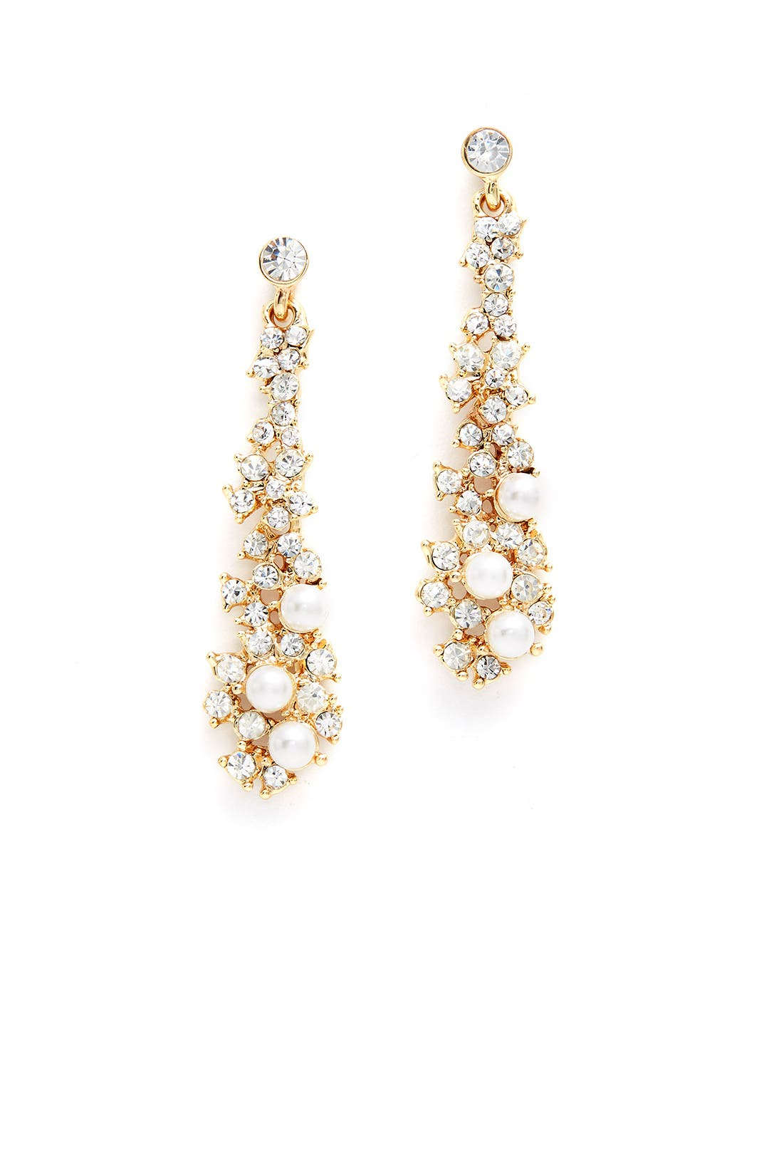 Crystal Waterfall Drop Earrings By Slate & Willow Accessories For $5  Rent  The Runway