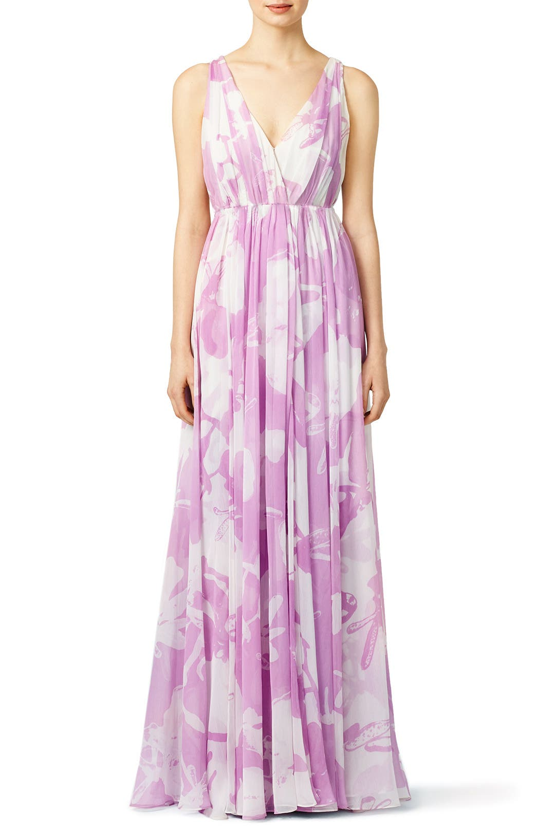 Lilac Disco Maxi Dress By Halston Heritage For 90 100