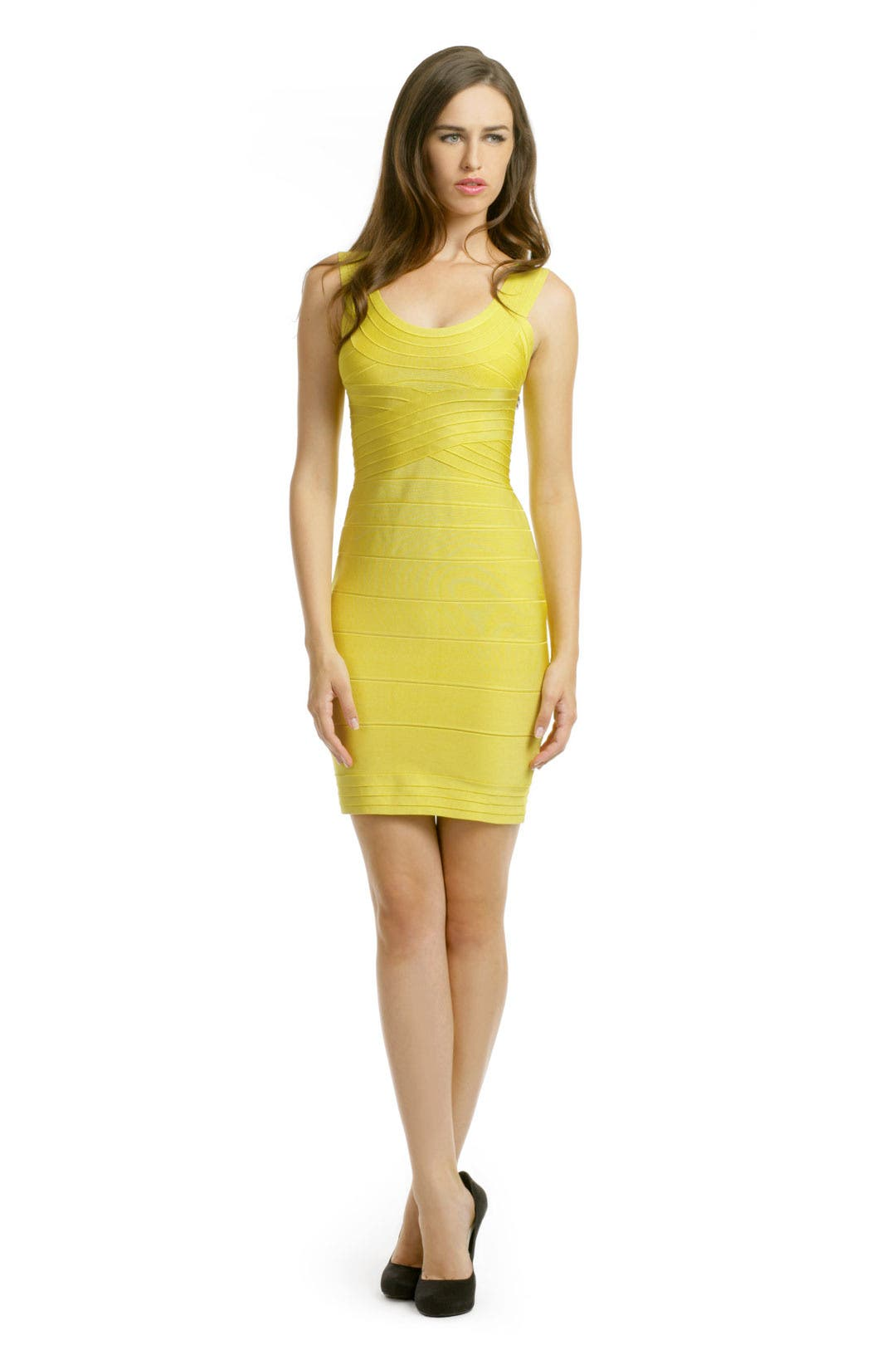 Lemon Lust Dress by Hervé Léger