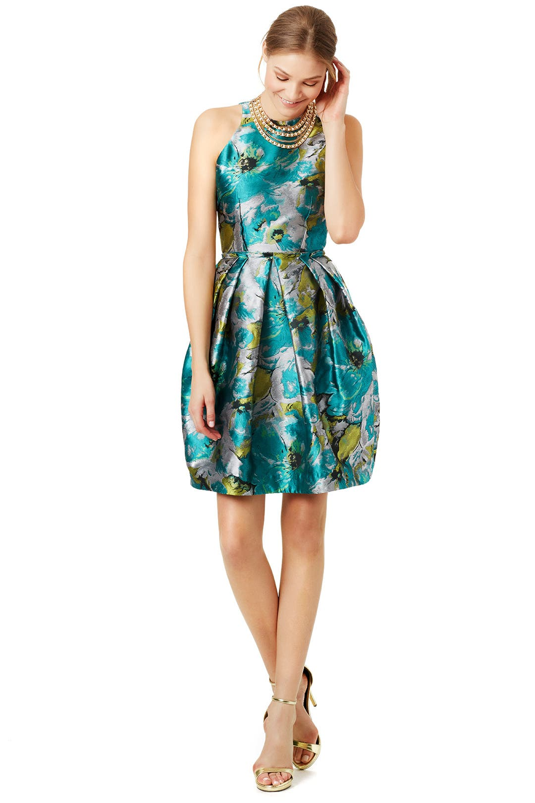 impressionist dress by carmen marc valvo for 60 rent the runway