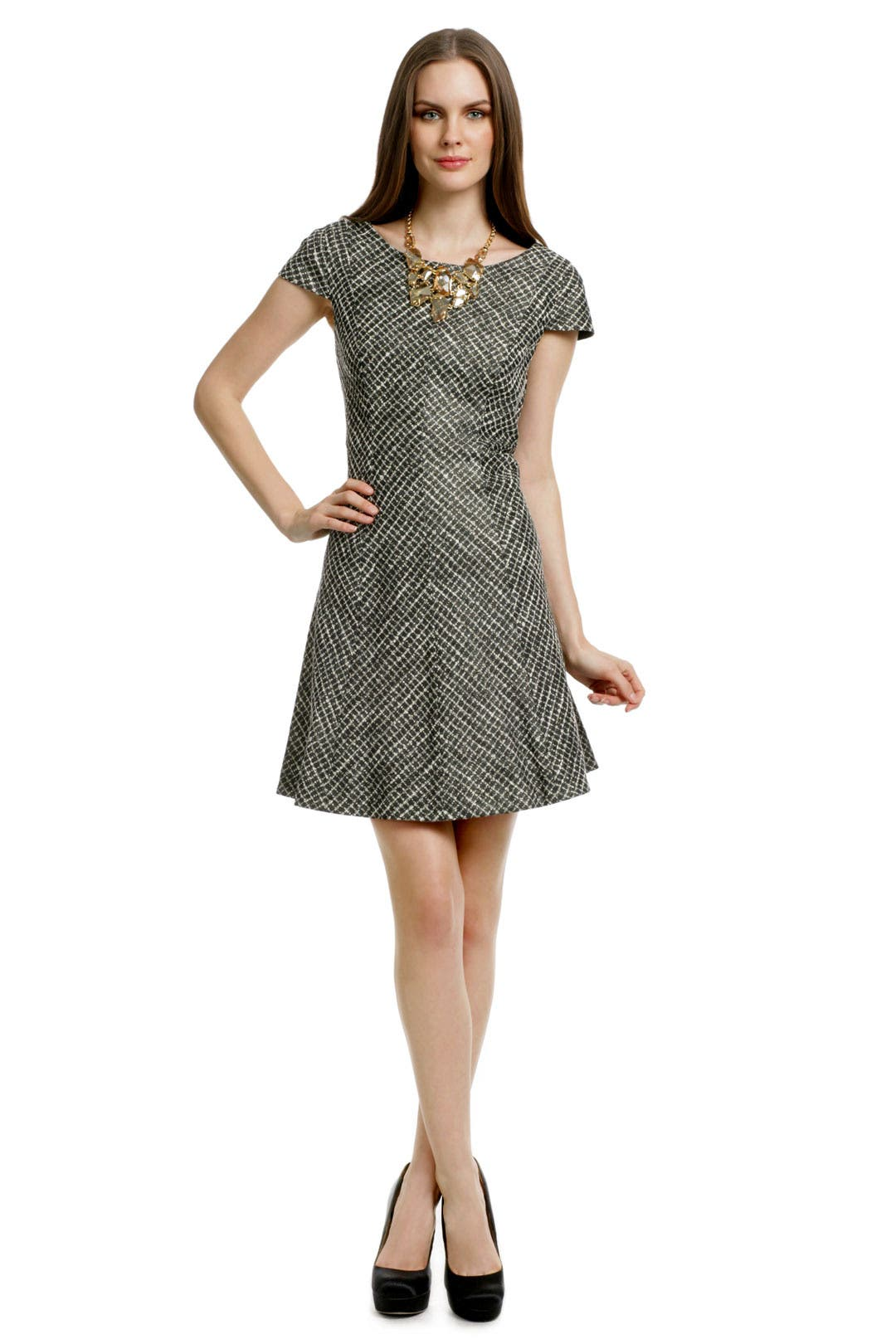 Basketweave Cap Sleeve Dress by Shoshanna