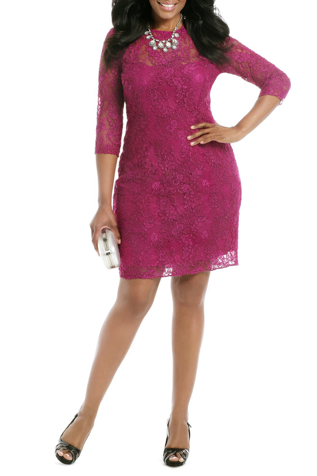 Berry Crush Sheath by Carmen Marc Valvo