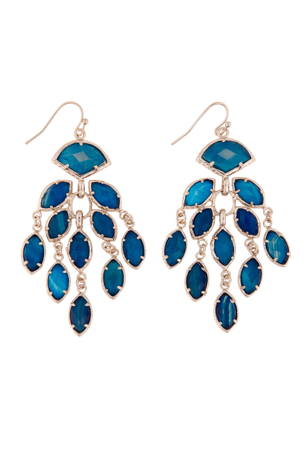 Gwen Blue Agate Earrings by Kendra Scott