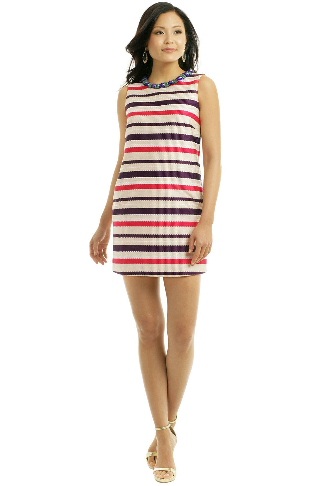 Stripe Sport Shift Dress by MSGM