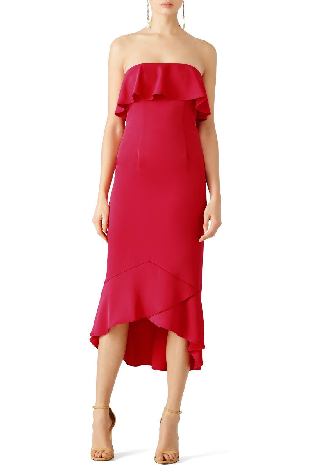 Shoshanna Pink Essie Midi Dress