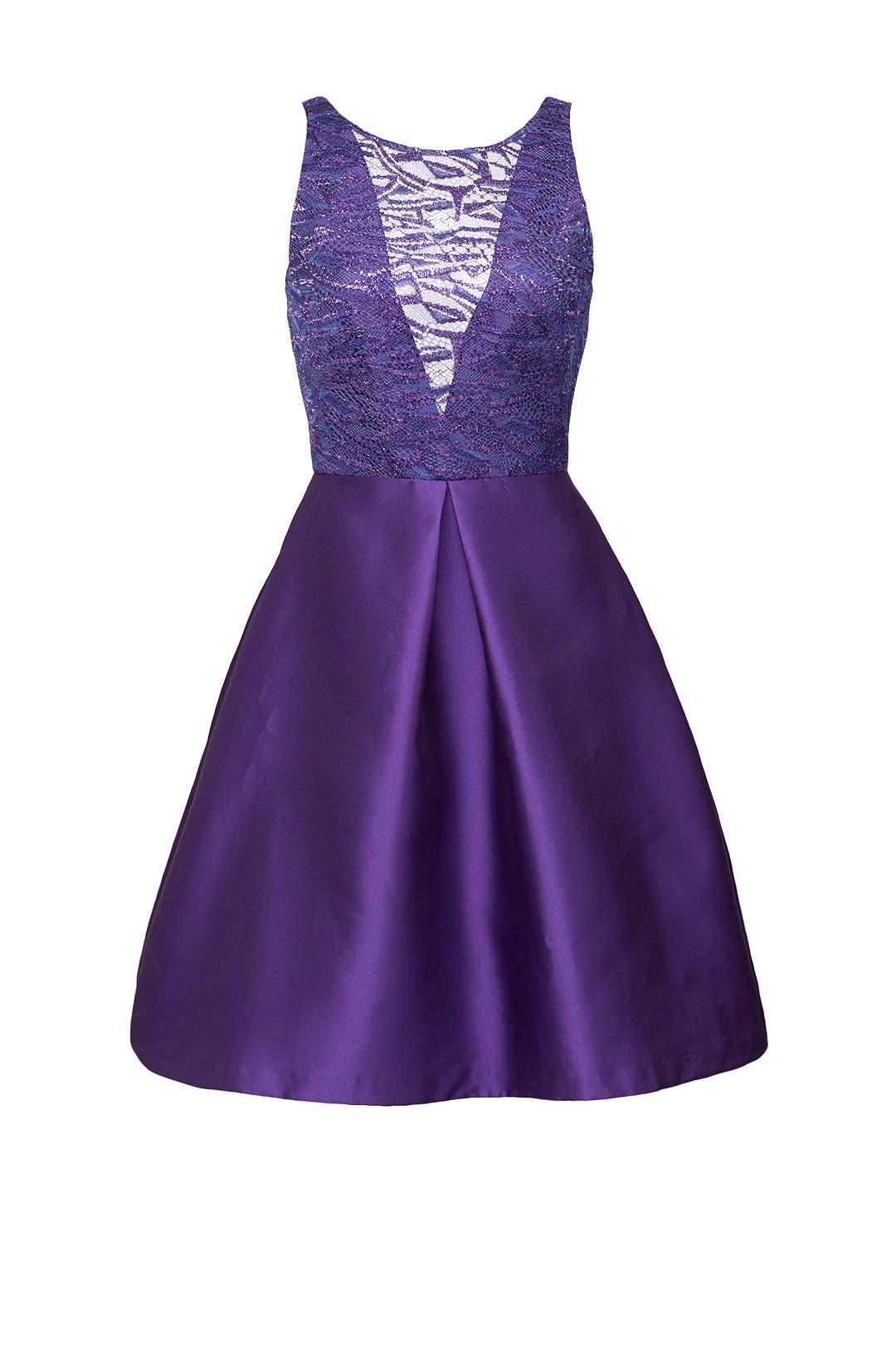 Purple Mikado Dress by ML Monique Lhuillier for $115 | Rent the Runway