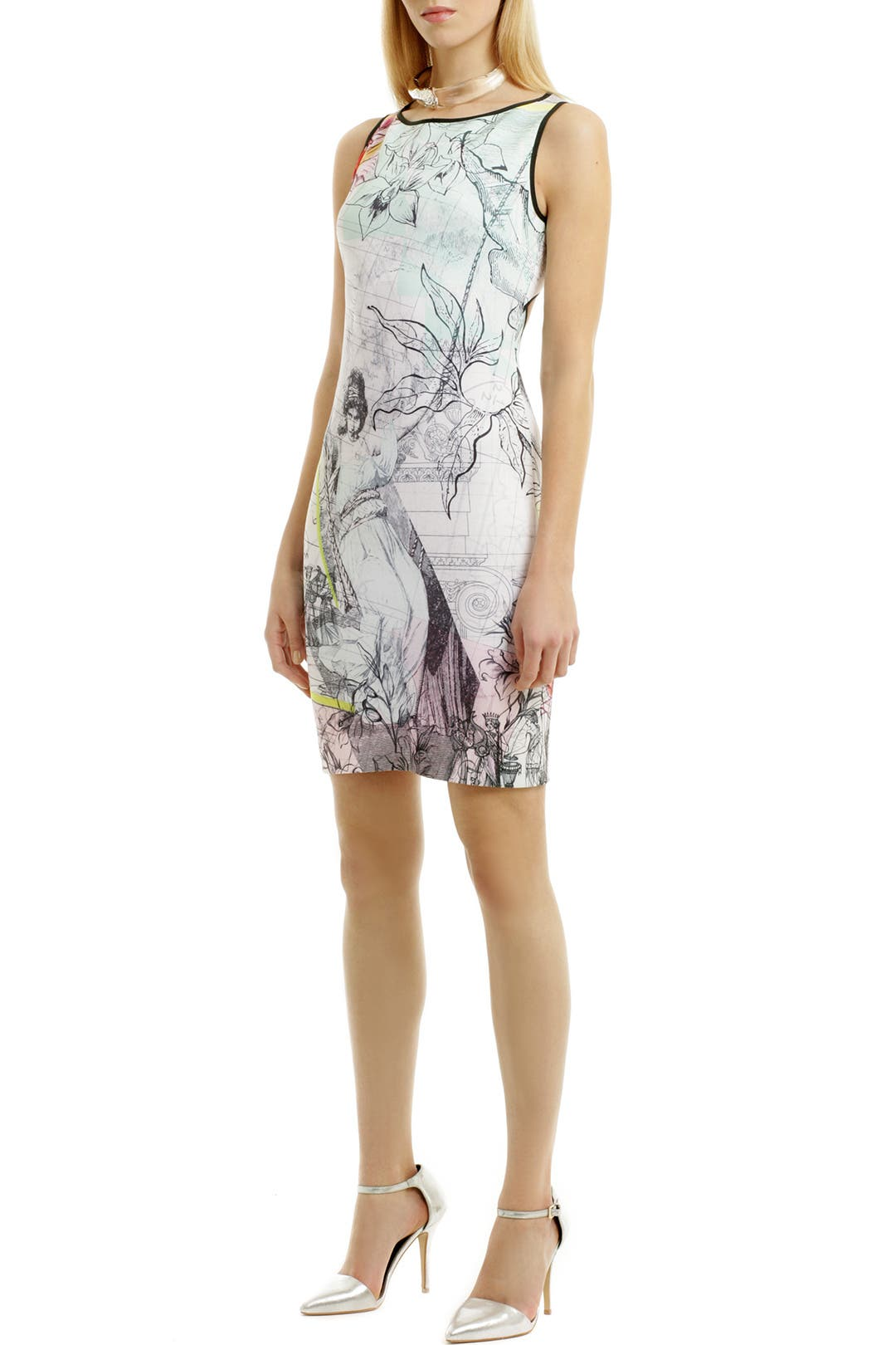 Floral Line Dress by Clover Canyon