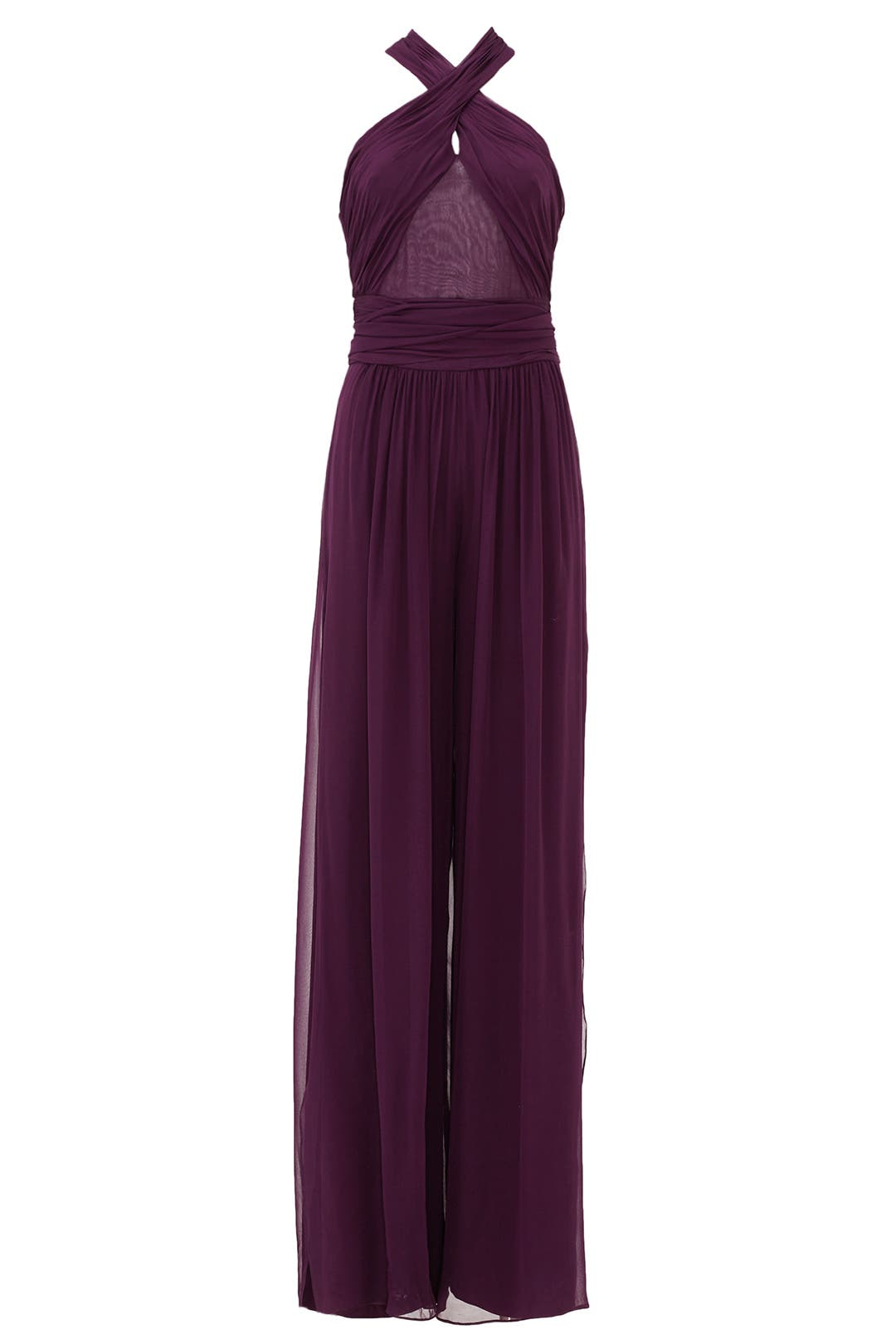 Purple jumpsuit wedding