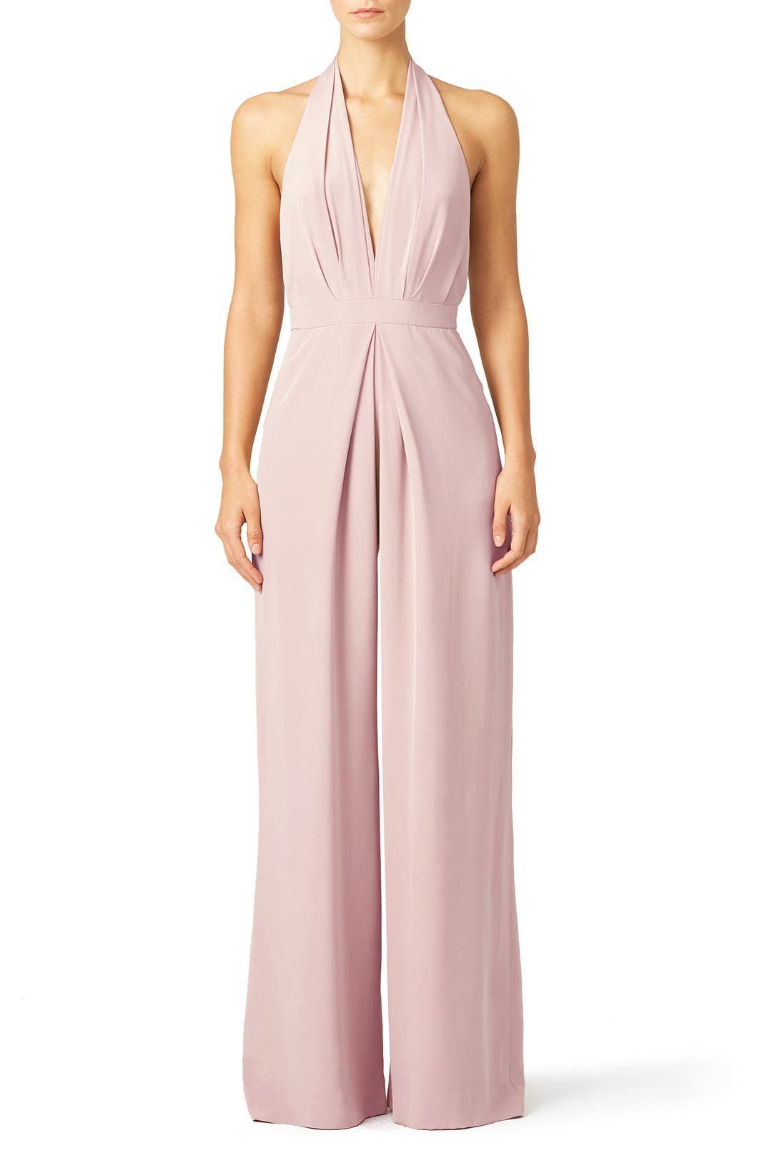 Blush perfect pleat jumpsuit by jill jill stuart for 60 for Dress for a spring wedding