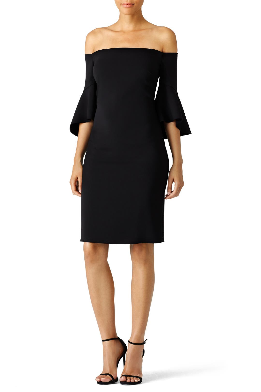 Black Bell Sleeve Cocktail Dress By Laundry By Shelli