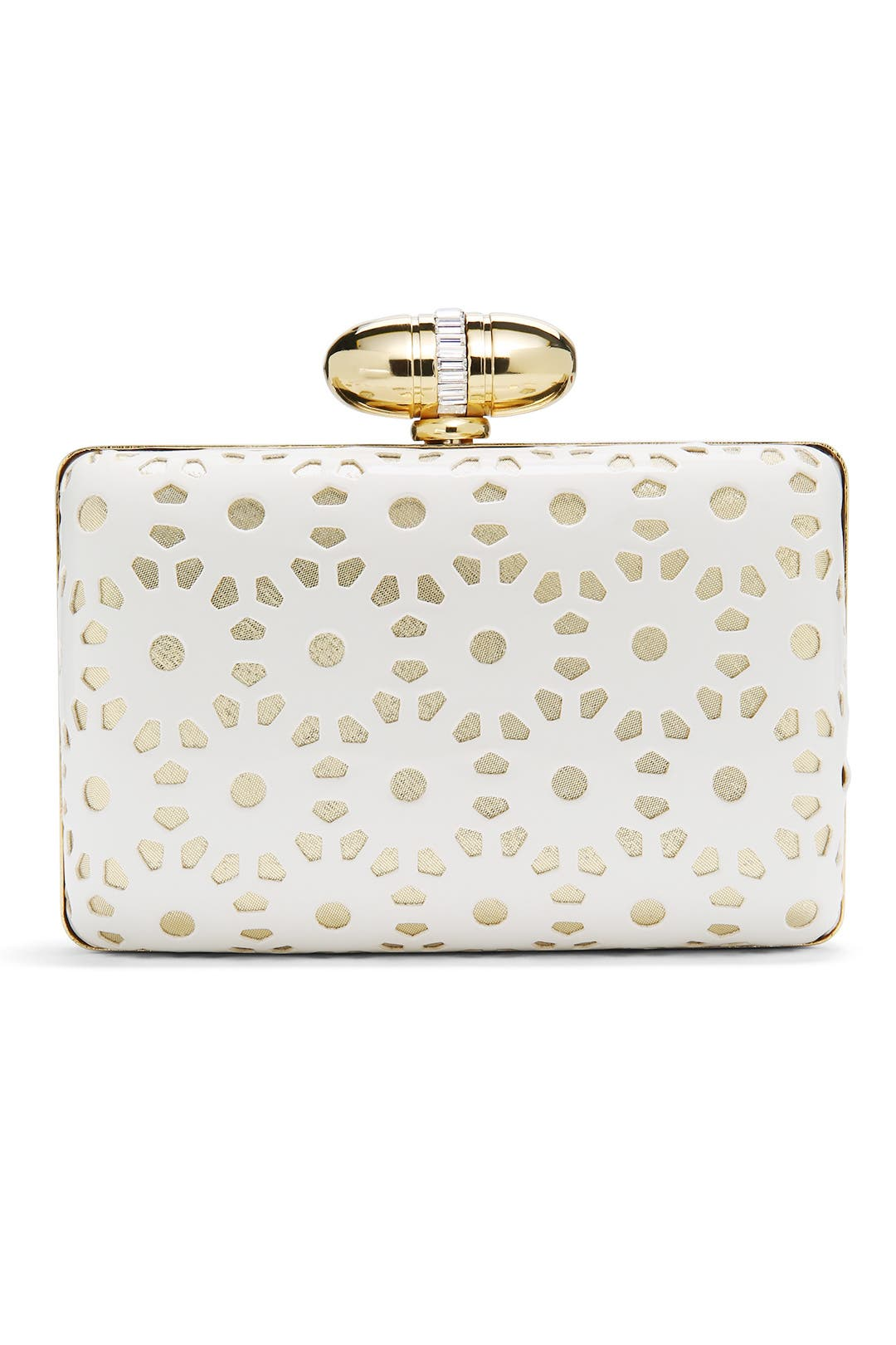 White Maya Clutch by Franchi
