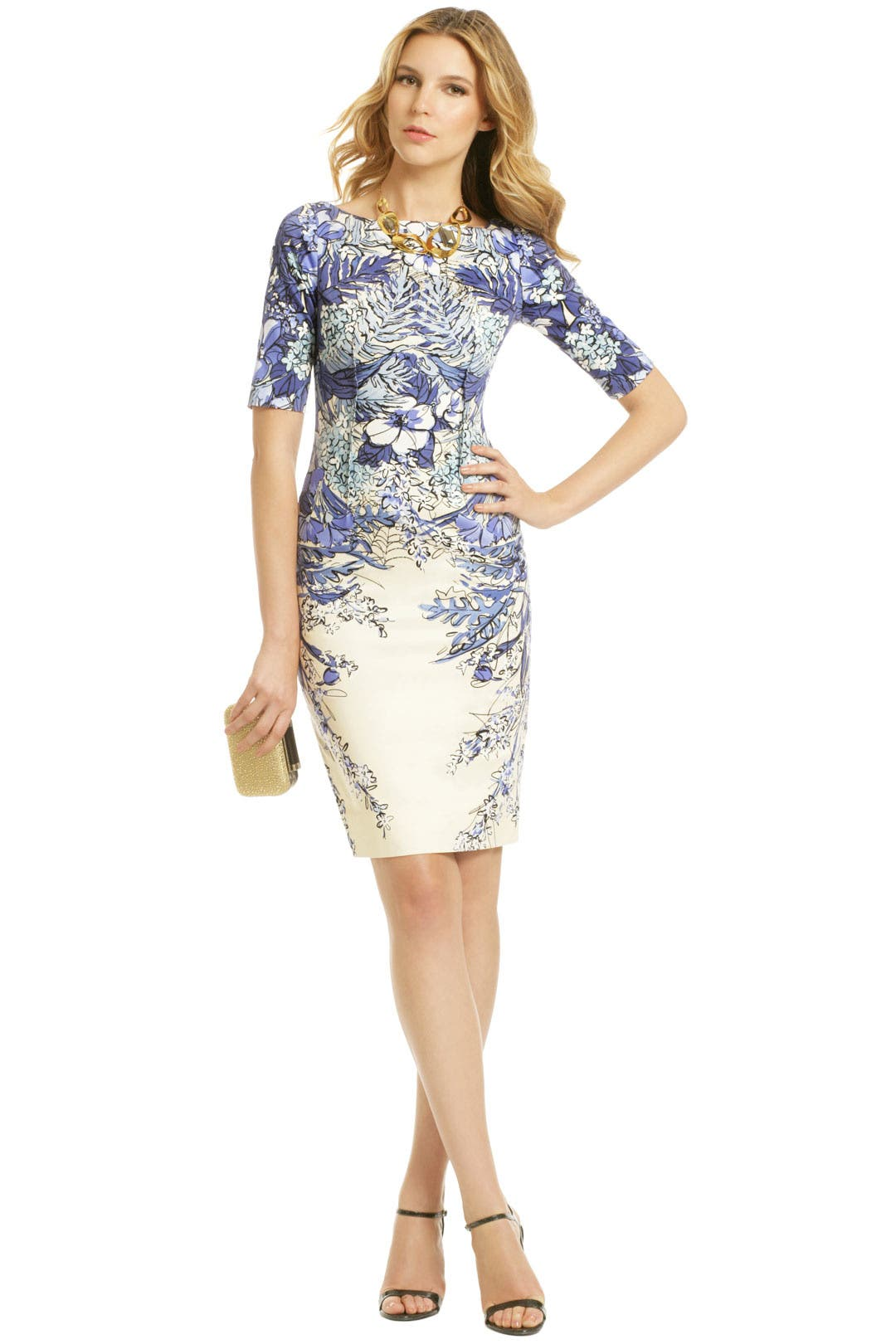Blaue Blume Dress by Lela Rose