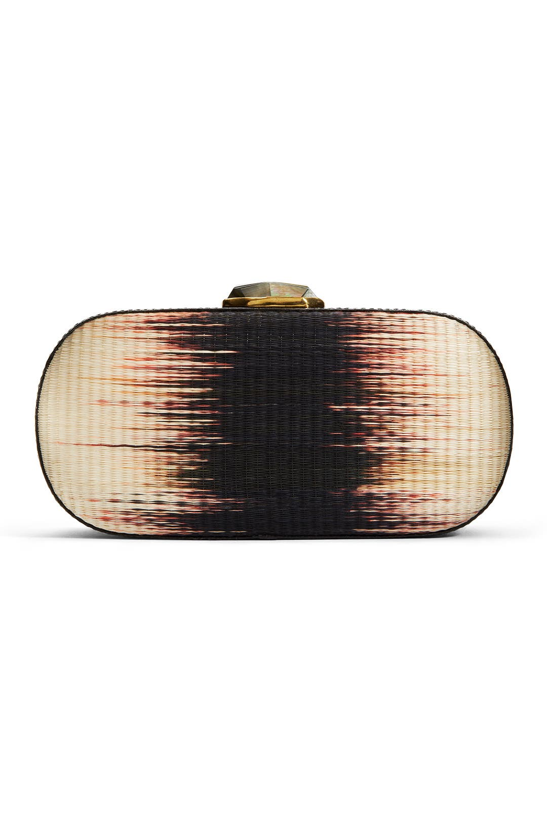 Rhythmic Raffia Clutch by Rafé