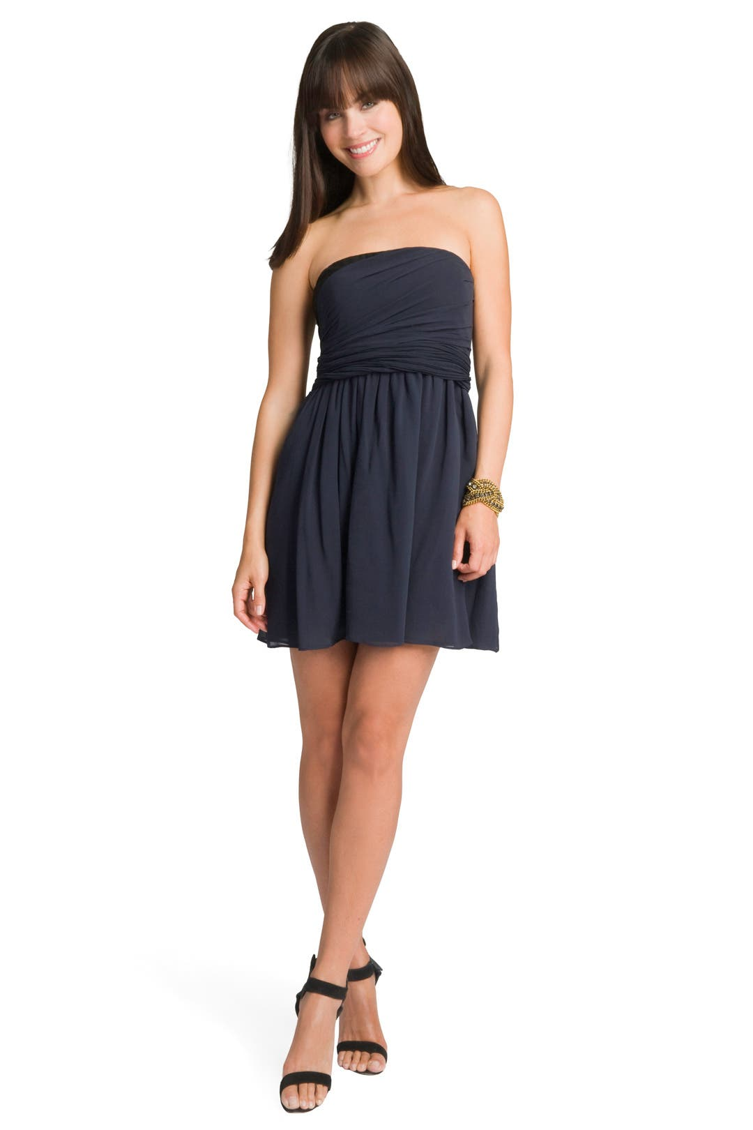 Draped Bi-color Dress by theory
