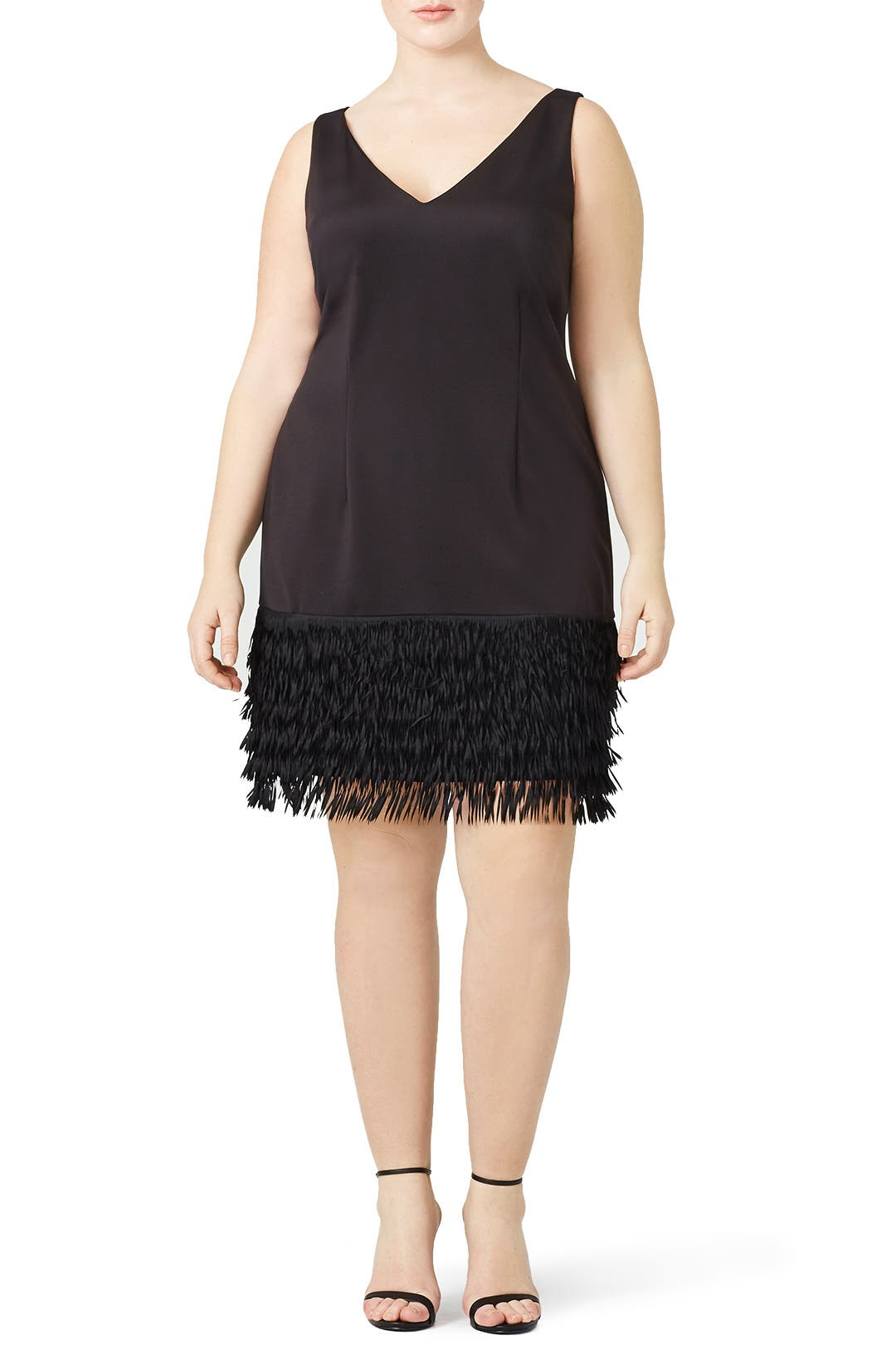 Black Flapper Fringe Dress by Adrianna Papell for $50 | Rent the Runway
