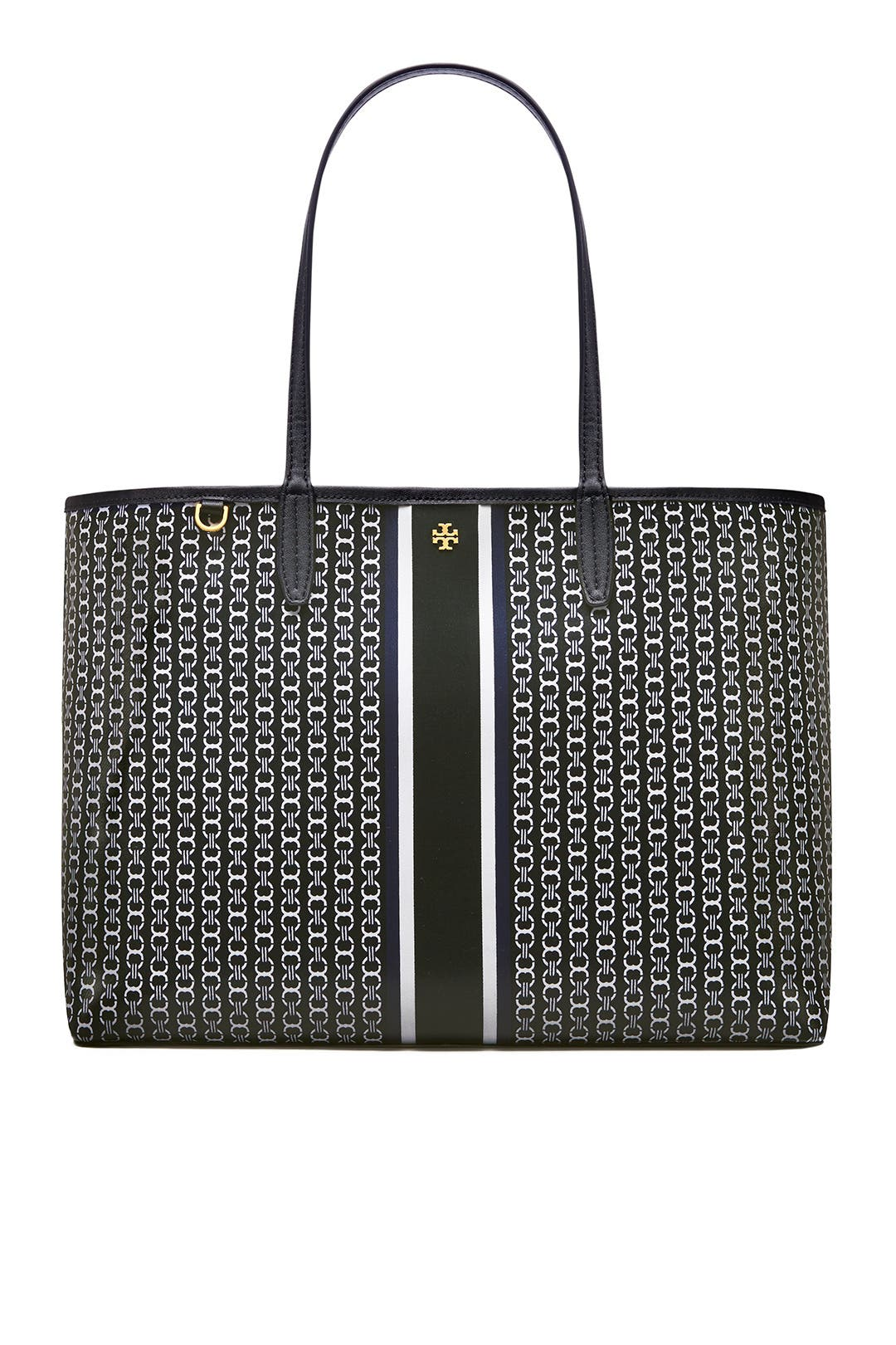 3129eac53 Black Gemini Link Tote by Tory Burch Accessories for $30 | Rent the ...