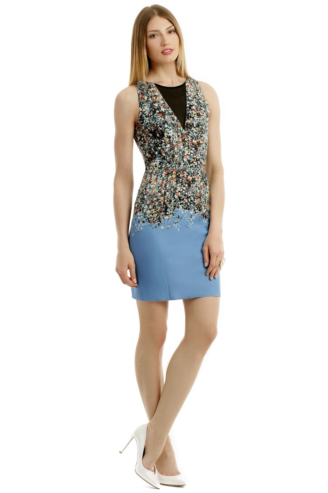 Blue Confetti Sheath by Sachin & Babi